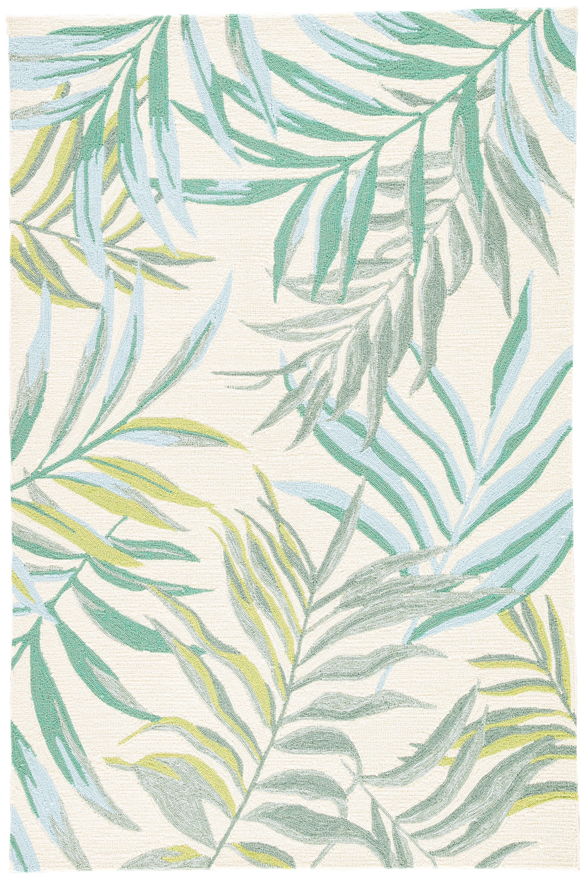 Rectangle 5x76 Green Floral Hand Hooked Synthetics Casual recommended for Bedroom, Bathroom, Outdoor, Dining Room, Office, Hallway, Living Room