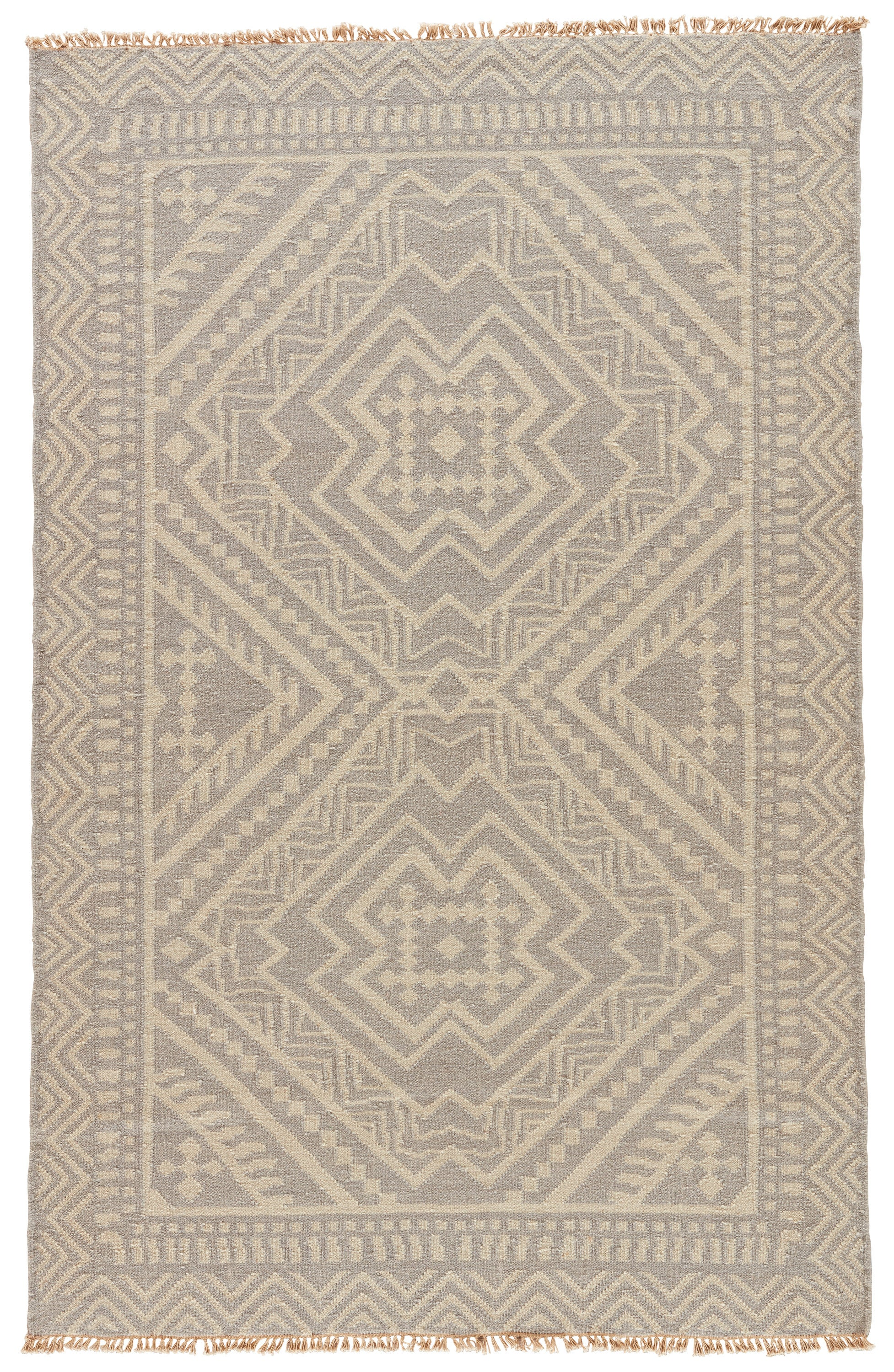 Rectangle Gray Geometric Dhurrie Wool Contemporary recommended for Bedroom, Bathroom, Dining Room, Office, Hallway, Living Room