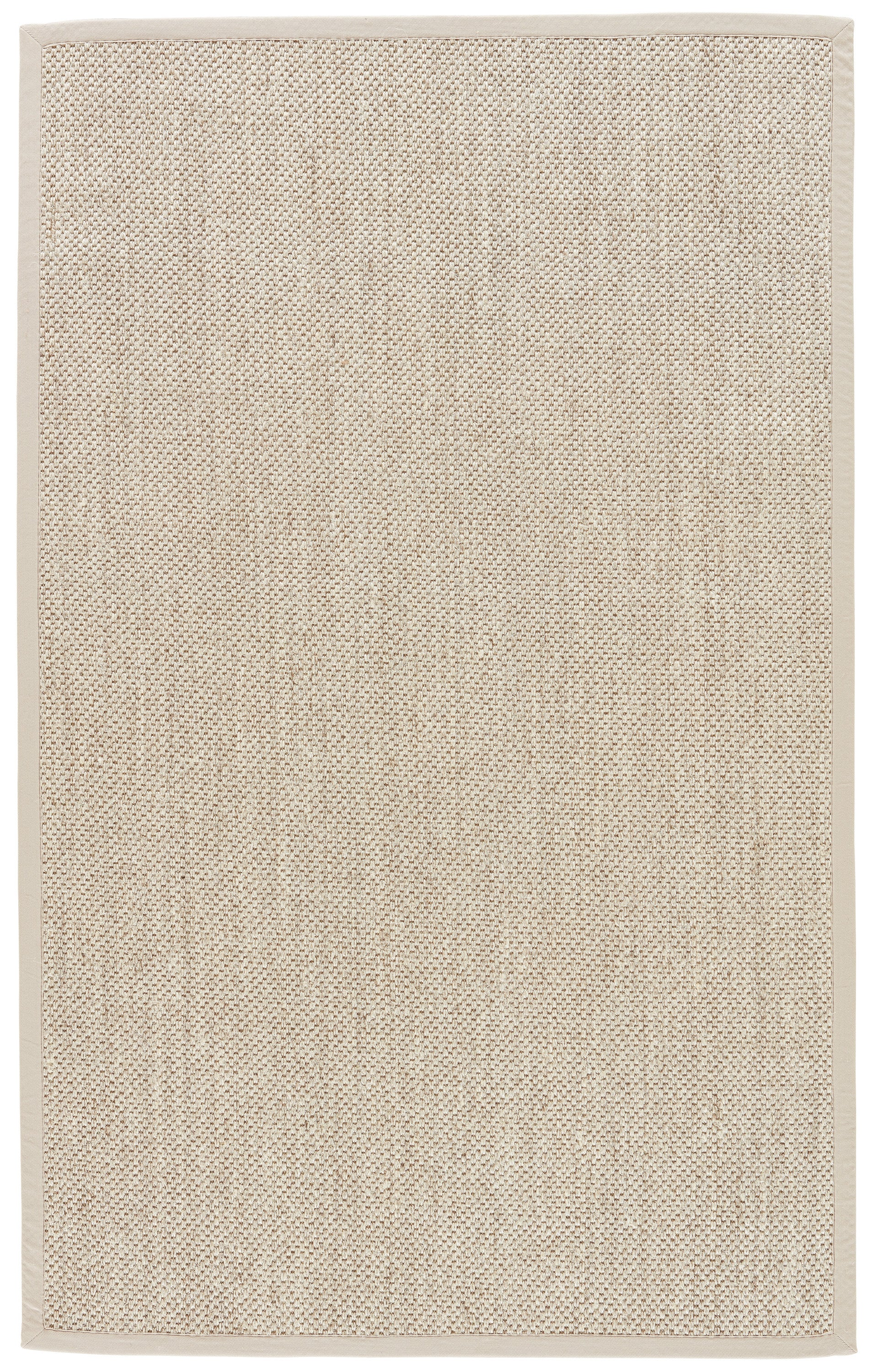Rectangle Beige Solid Hand Woven Jute & Natural Fibers Casual recommended for Bedroom, Bathroom, Dining Room, Office, Hallway, Living Room