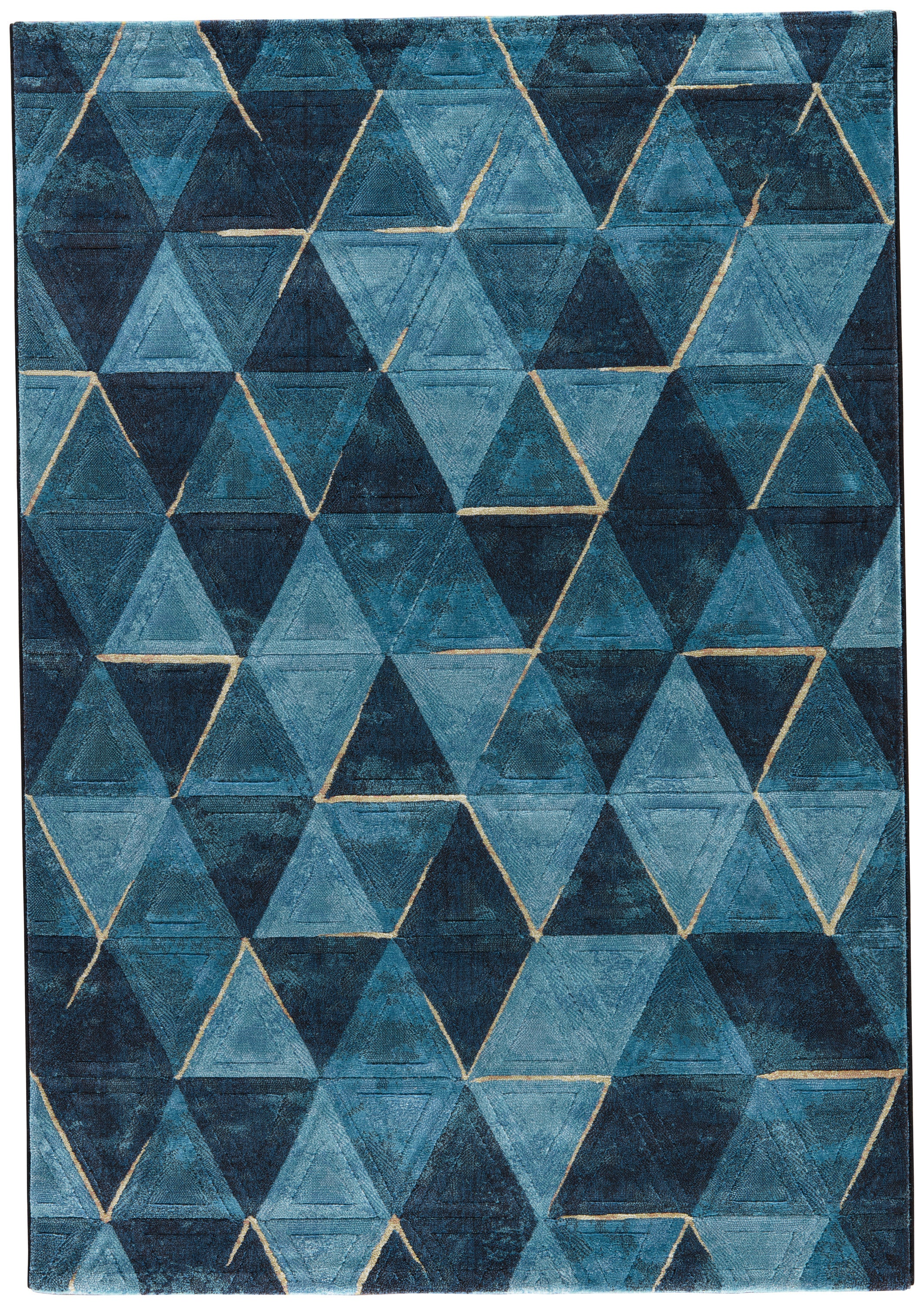 Rectangle Darkblue Geometric Machine Made Synthetics Contemporary recommended for Bedroom, Bathroom, Dining Room, Office, Hallway, Living Room