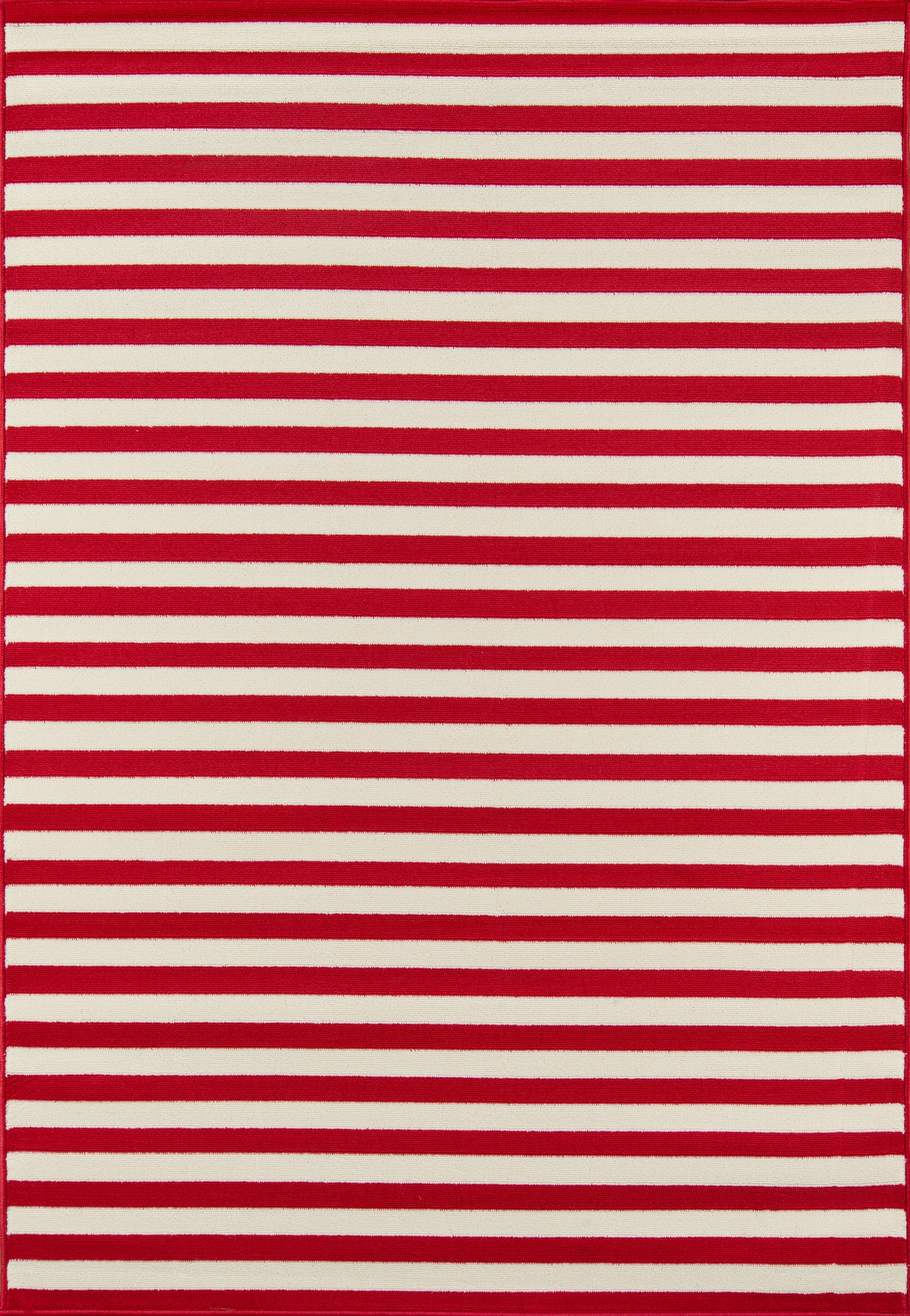 Rectangle 53x76 Red Striped Machine Made Synthetics Contemporary recommended for Kitchen, Bedroom, Bathroom, Outdoor, Dining Room, Office, Hallway, Living Room