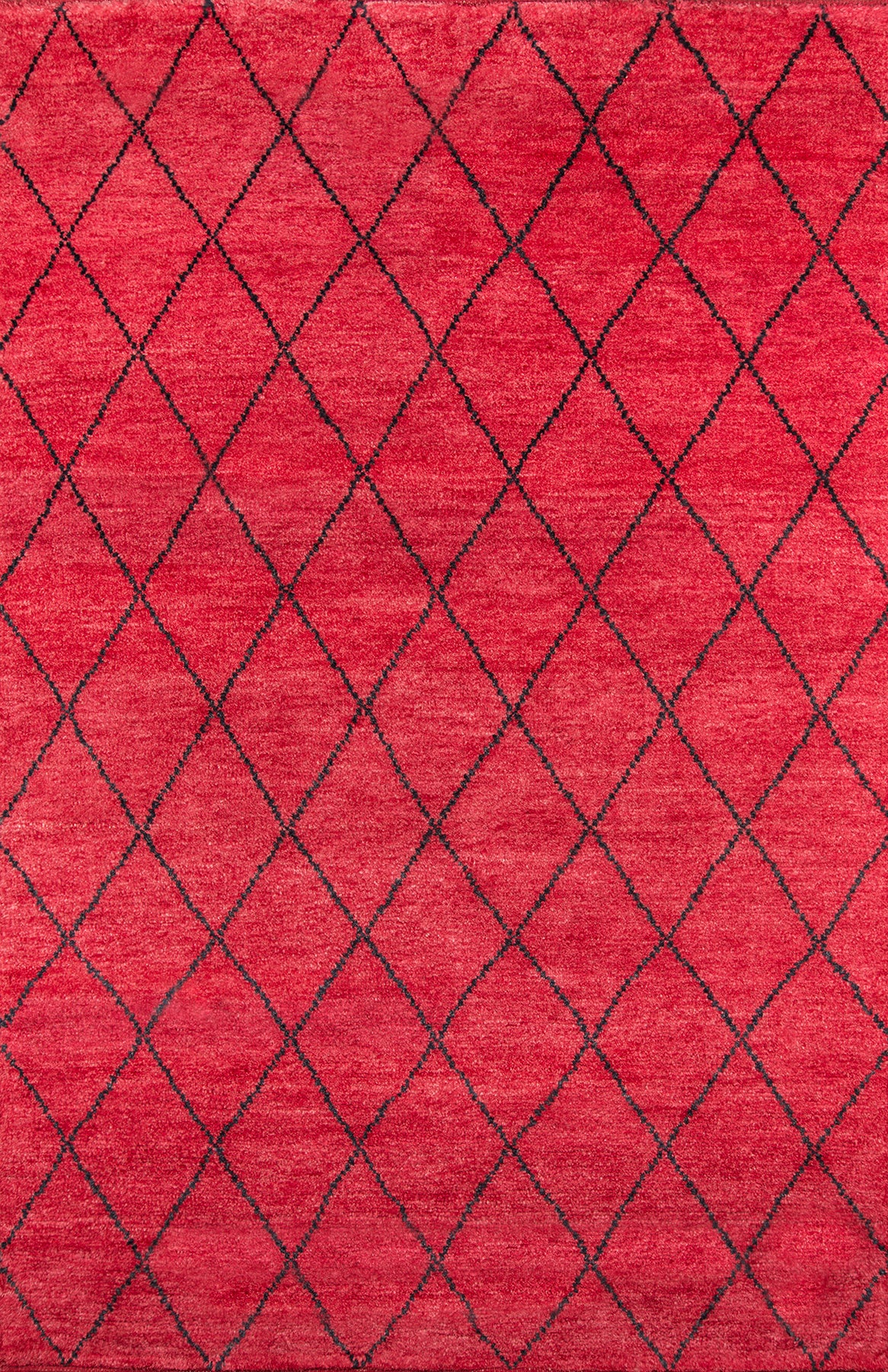 Rectangle 5x8 Red Geometric Hand Knotted Wool Transitional recommended for Kitchen, Bedroom, Bathroom, Dining Room, Office, Hallway, Living Room