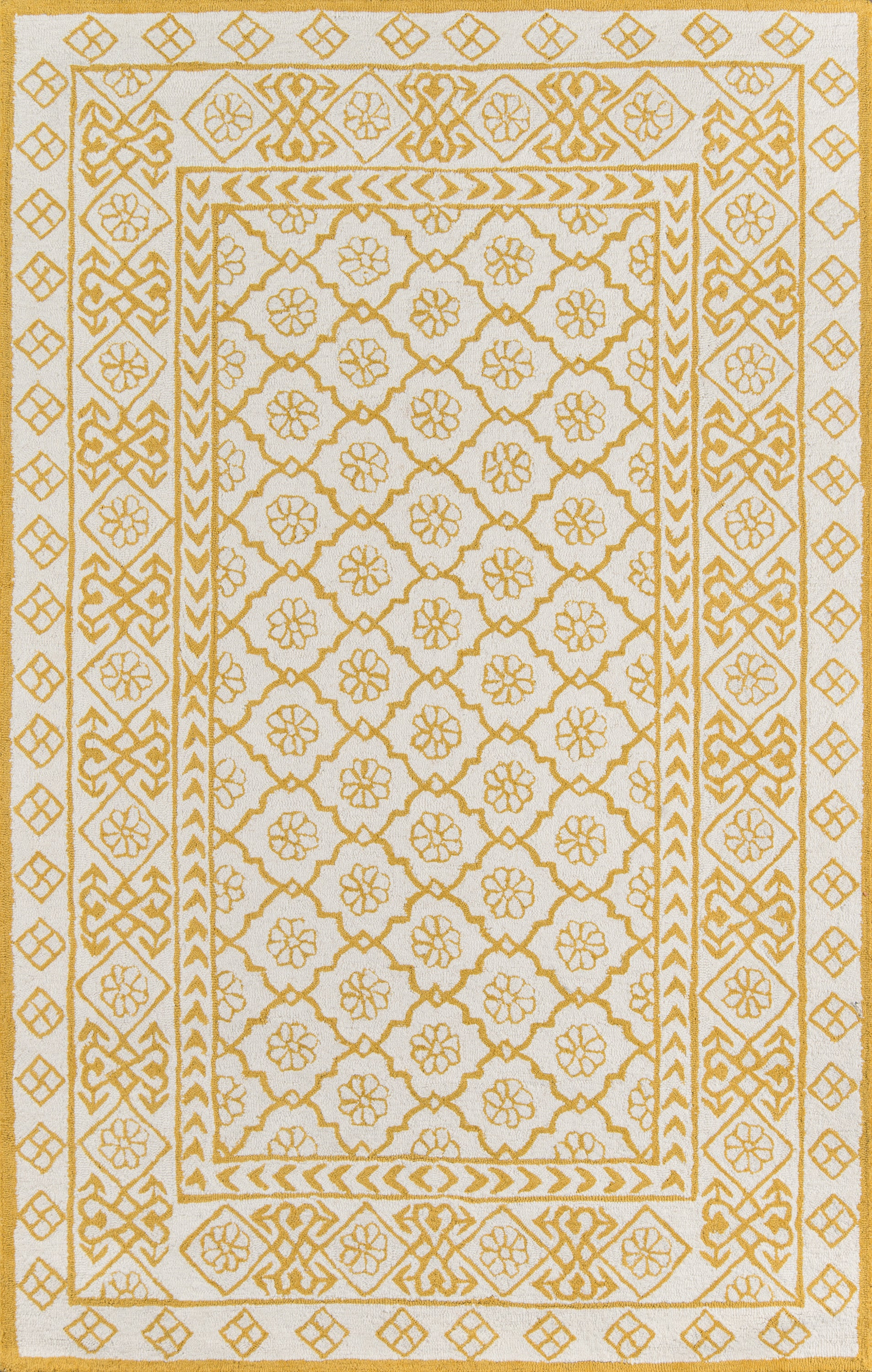 Rectangle 2x3 Gold Geometric Hand Tufted Wool Contemporary recommended for Kitchen, Bedroom, Bathroom, Dining Room, Office, Hallway, Living Room