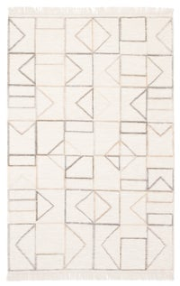 Rectangle Cream Geometric Hand Loomed Jute & Natural Fibers Modern recommended for Bedroom, Bathroom, Dining Room, Office, Hallway, Living Room