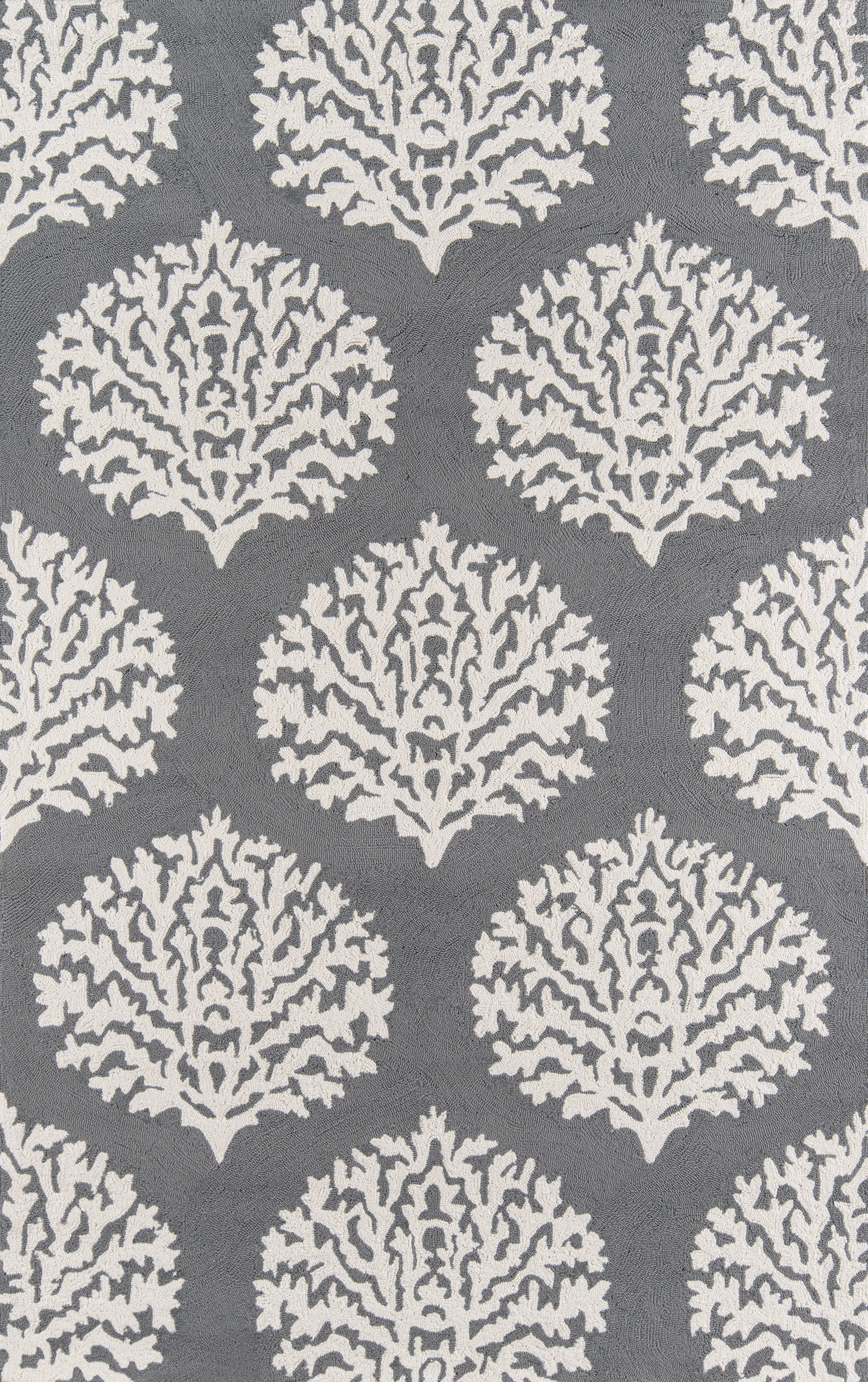 Rectangle, Round Gray Damask Hand Hooked Synthetics Contemporary recommended for Bedroom, Bathroom, Outdoor, Dining Room, Office, Hallway, Living Room