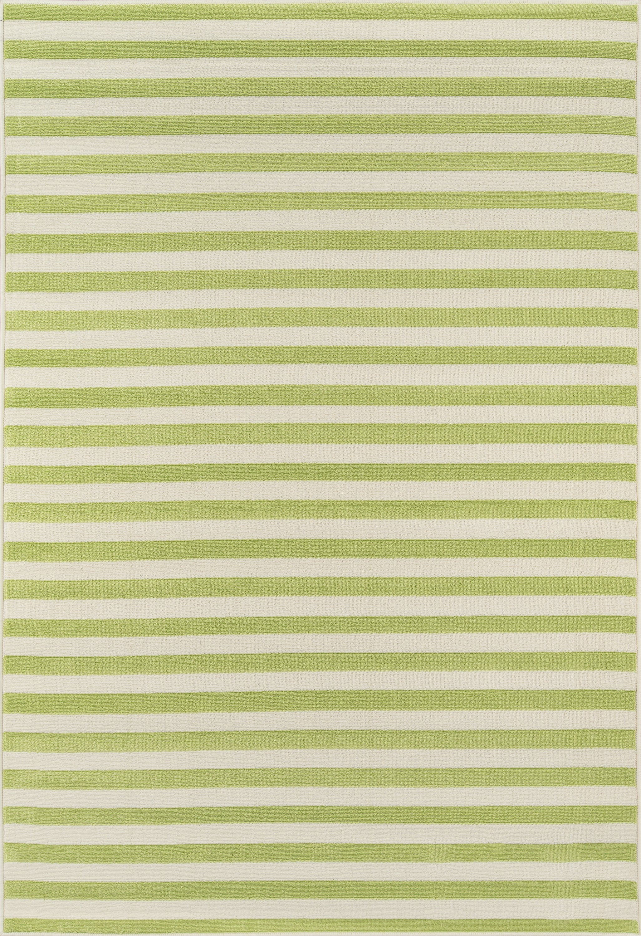 Rectangle 53x76 Green Striped Machine Made Synthetics Contemporary recommended for Kitchen, Bedroom, Bathroom, Outdoor, Dining Room, Office, Hallway, Living Room
