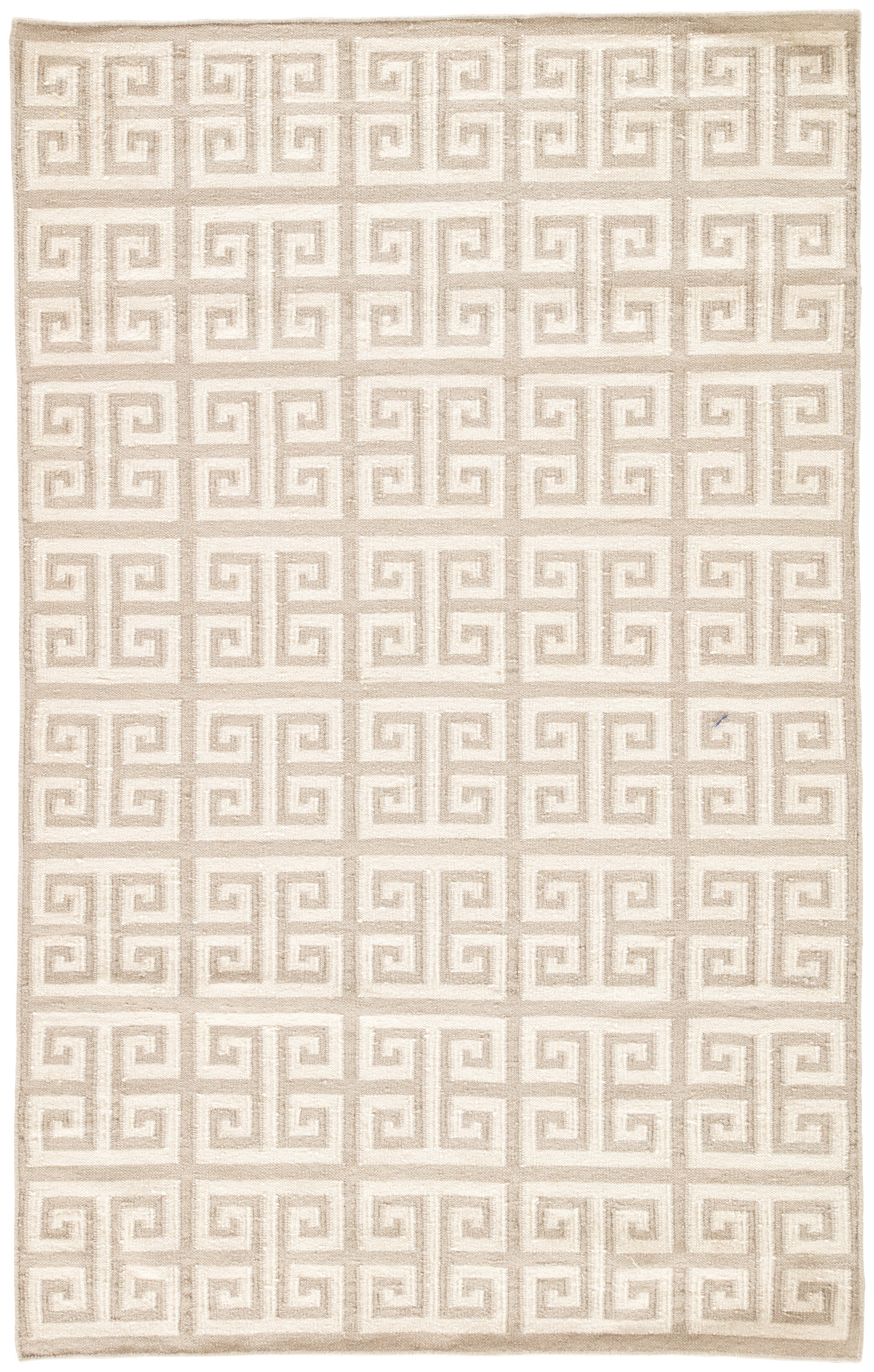 Rectangle Cream Geometric Dhurrie Wool Contemporary recommended for Bedroom, Bathroom, Dining Room, Office, Hallway, Living Room