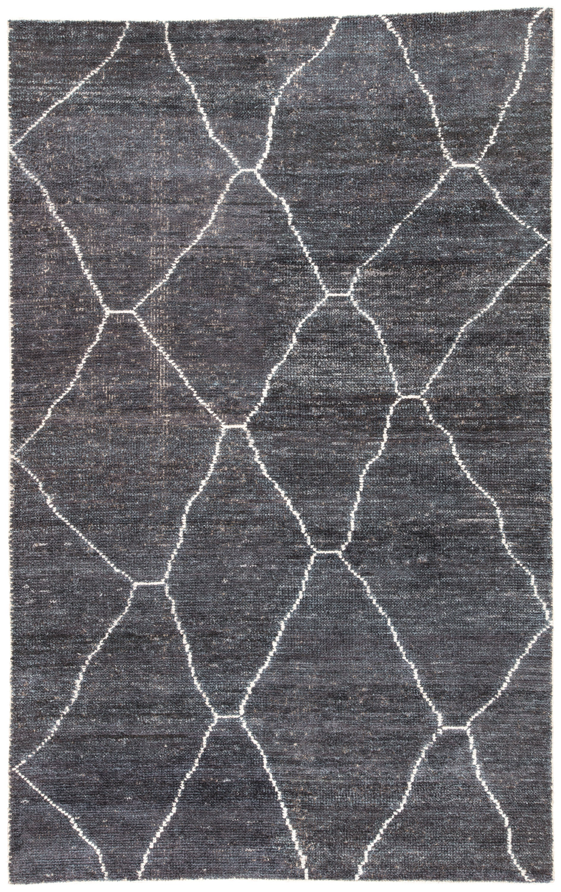 Rectangle Darkgray Geometric Hand Loomed Blends Persian & Moroccan recommended for Bedroom, Bathroom, Dining Room, Office, Hallway, Living Room