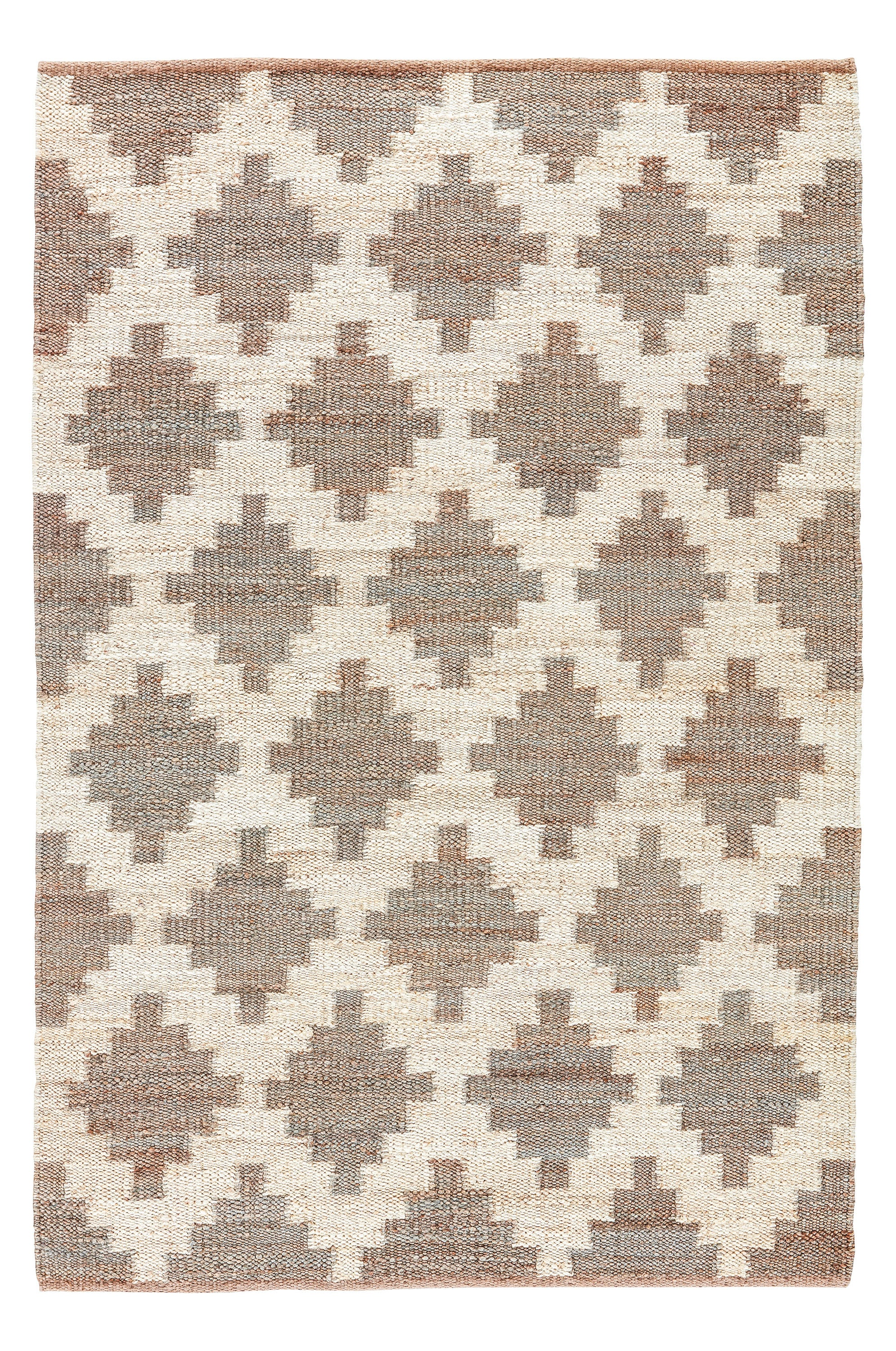 Rectangle Gray Trellis Dhurrie Jute & Natural Fibers Persian & Moroccan recommended for Kitchen, Bedroom, Bathroom, Dining Room, Office, Hallway, Living Room
