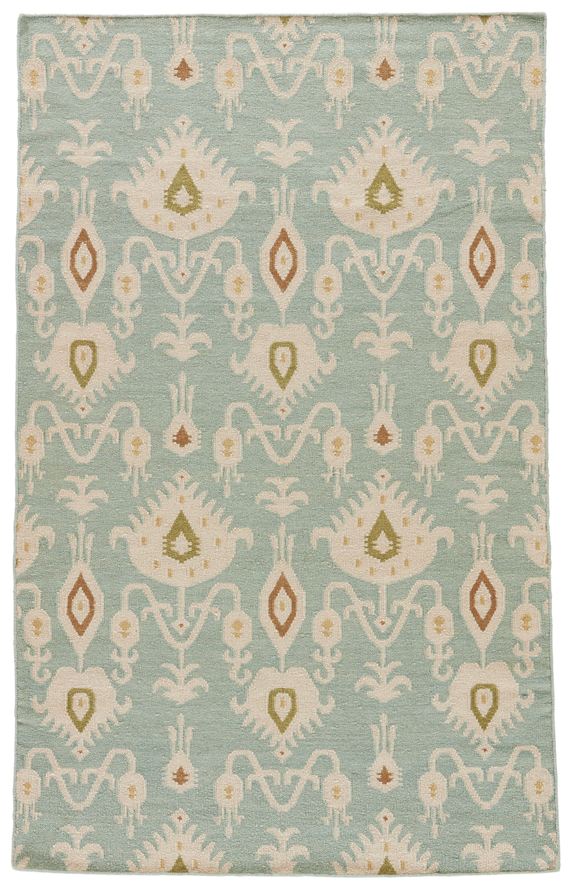 Rectangle Blue Ikat Dhurrie Wool Contemporary recommended for Bedroom, Bathroom, Dining Room, Office, Hallway, Living Room