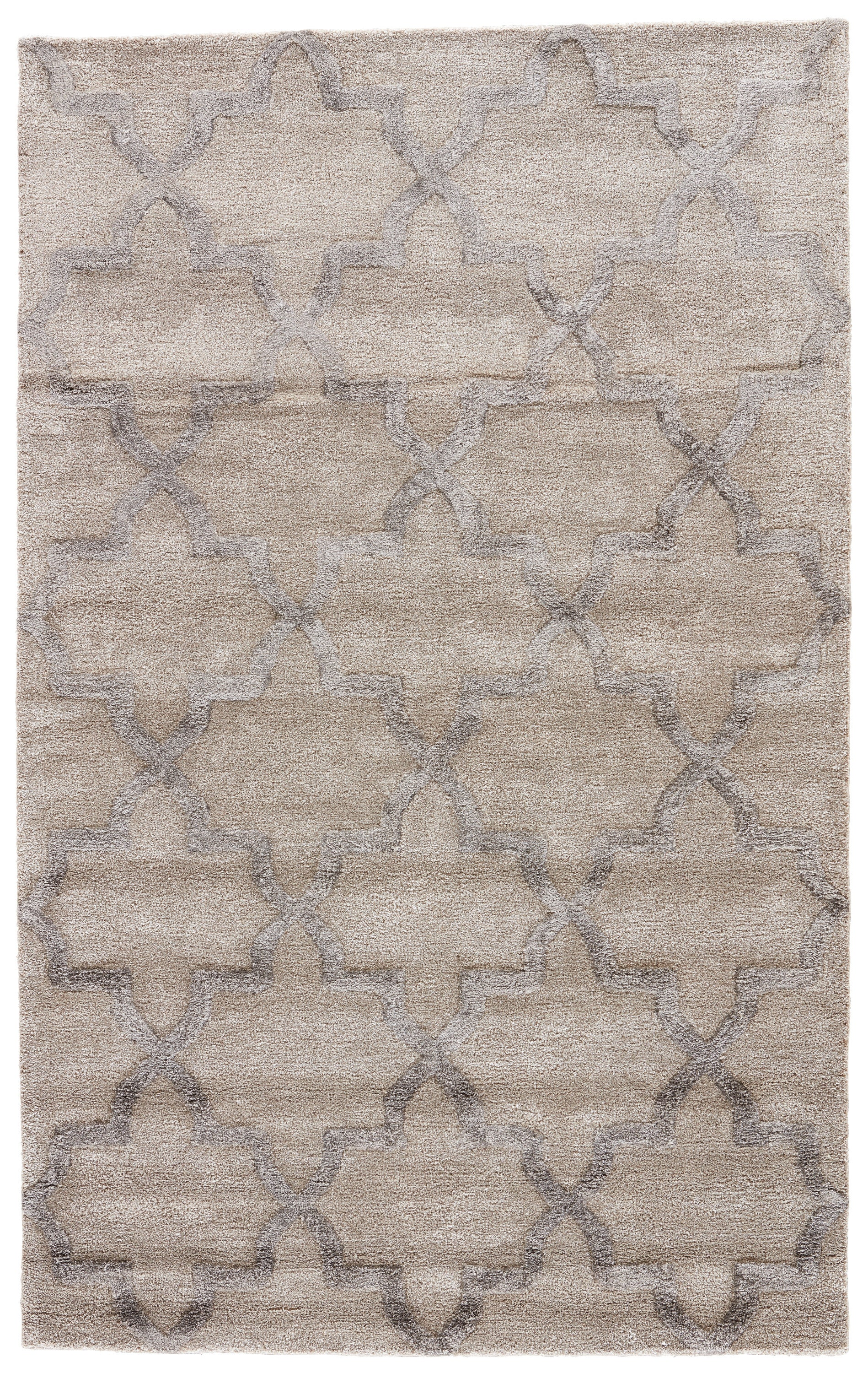Rectangle Lightbrown Trellis Hand Tufted Blends Persian & Moroccan recommended for Bedroom, Bathroom, Dining Room, Office, Hallway, Living Room