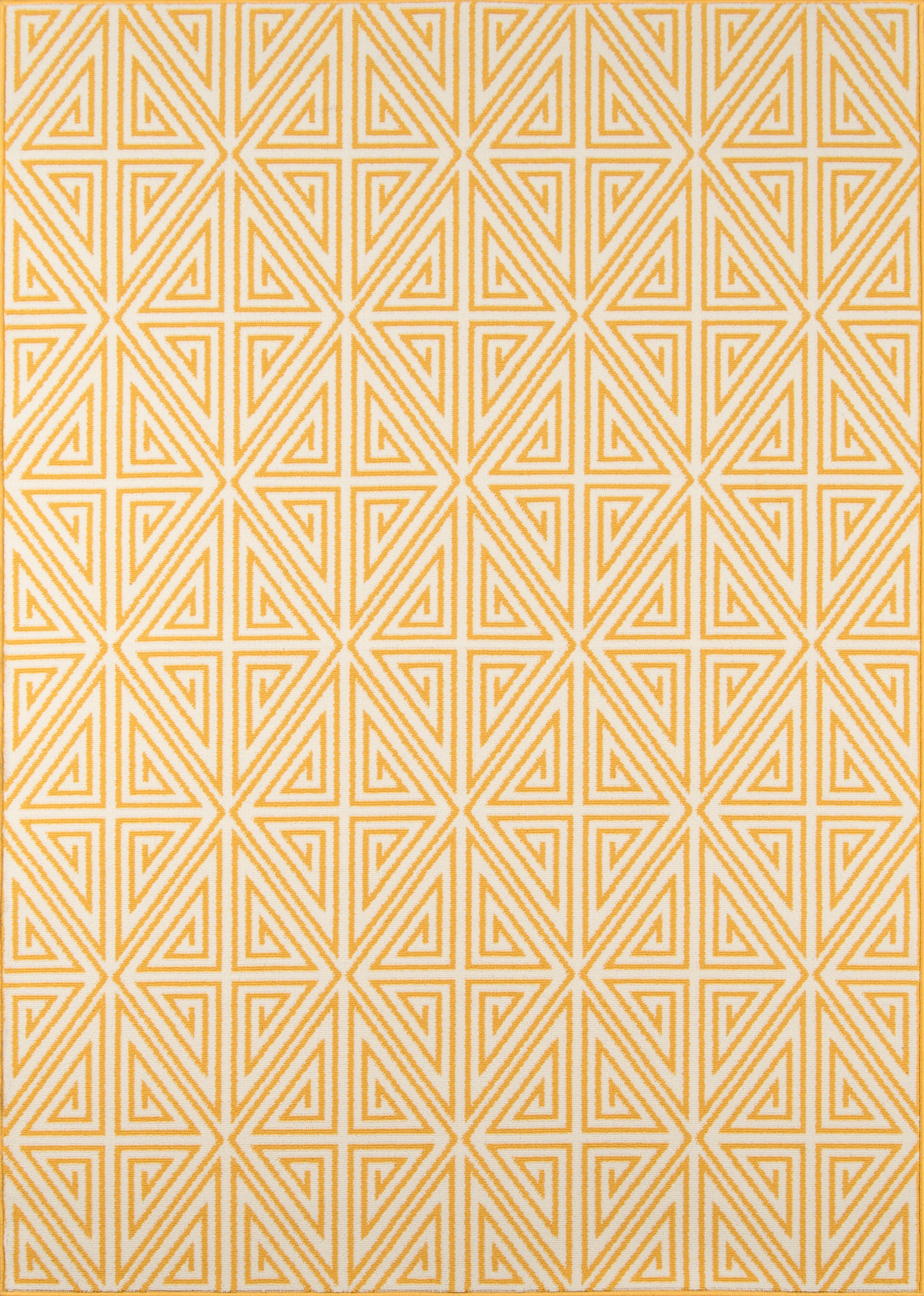 Rectangle 18x37 Yellow Geometric Machine Made Synthetics Contemporary recommended for Kitchen, Bedroom, Bathroom, Outdoor, Dining Room, Office, Hallway, Living Room