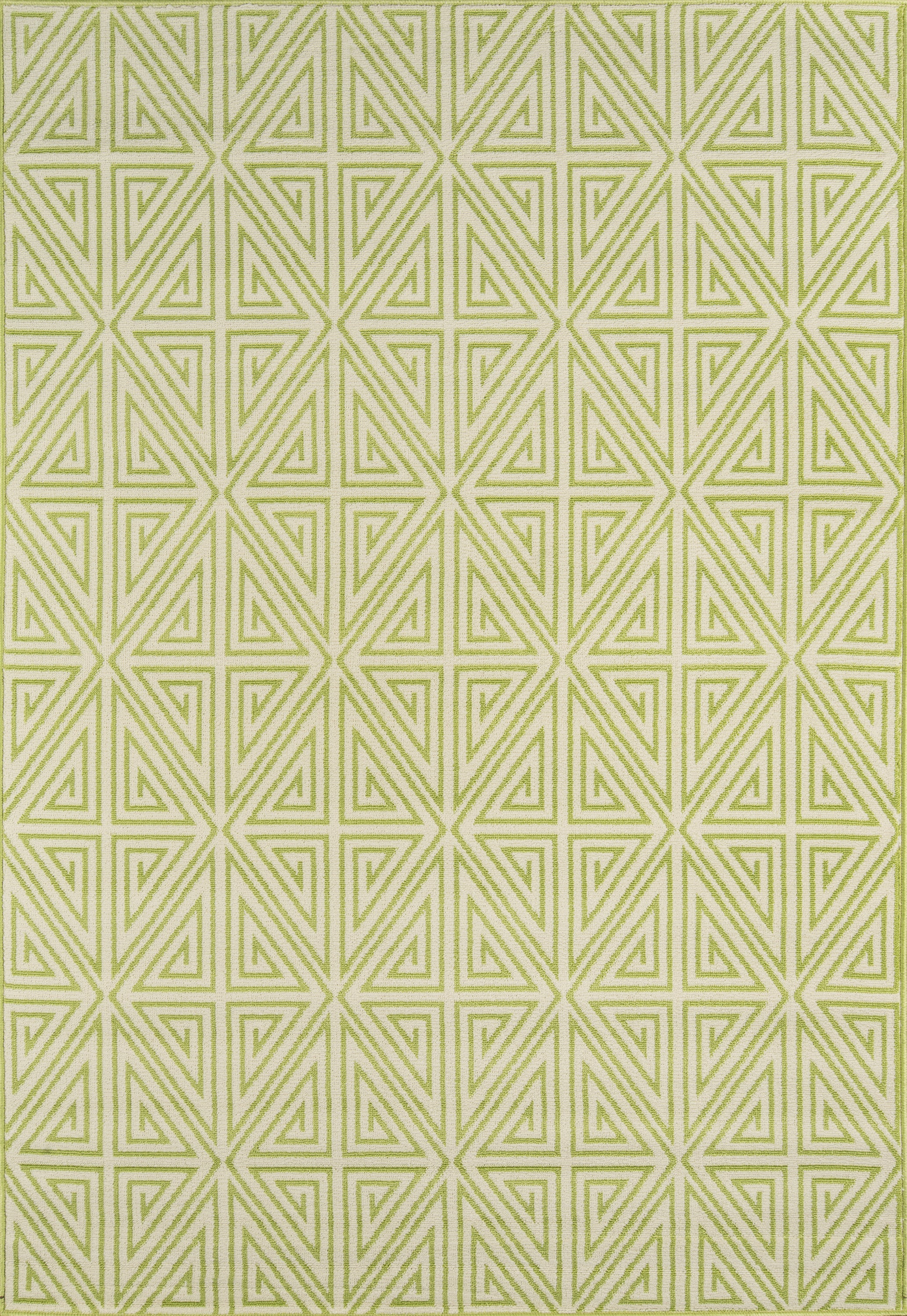 Rectangle 53x76 Green Geometric Machine Made Synthetics Contemporary recommended for Kitchen, Bedroom, Bathroom, Outdoor, Dining Room, Office, Hallway, Living Room