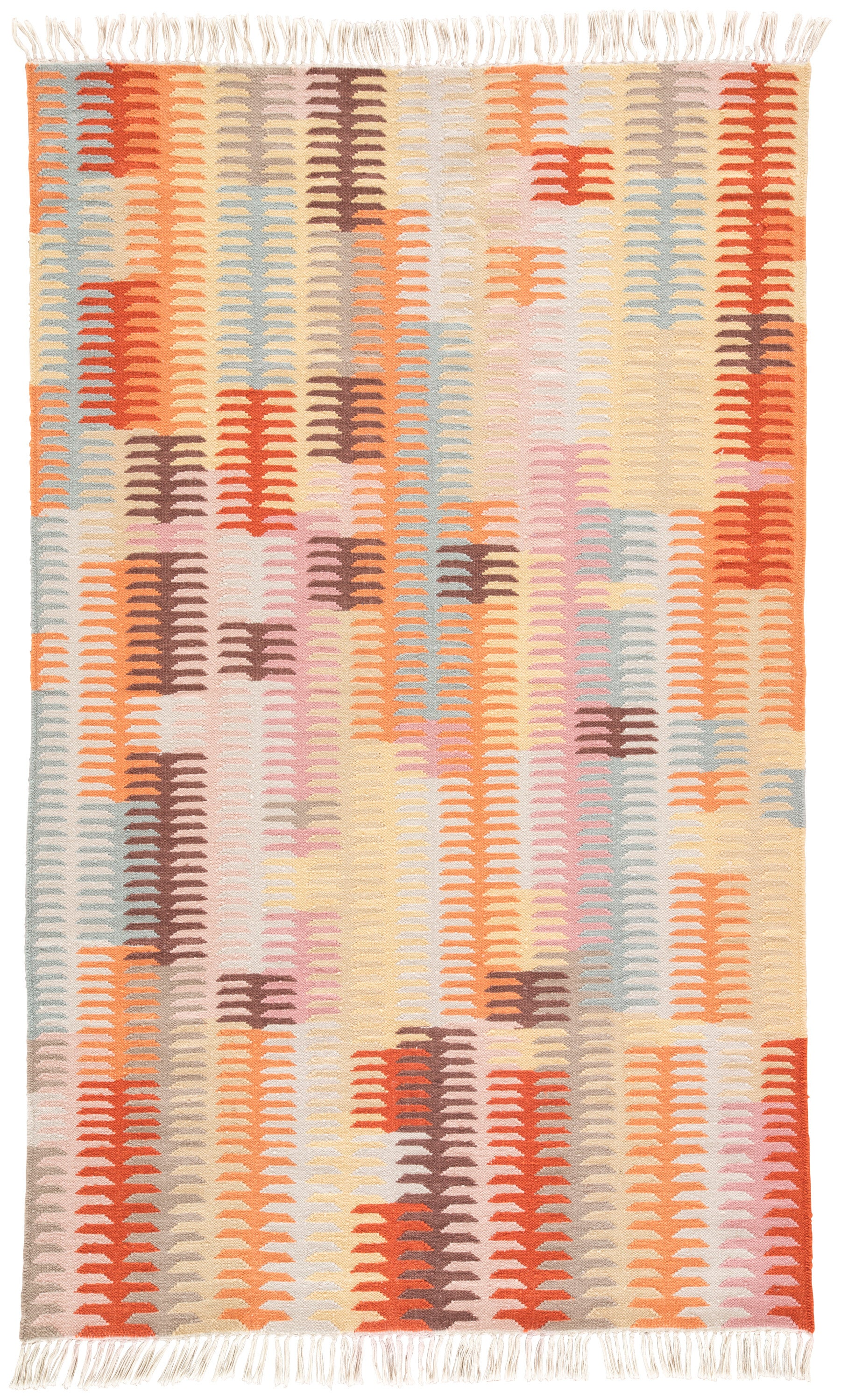 Rectangle 5x8 Orange Abstract Hand Woven Synthetics Southwestern recommended for Bedroom, Bathroom, Outdoor, Dining Room, Office, Hallway, Living Room