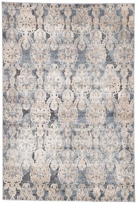 Rectangle Blue Damask Machine Made Synthetics Contemporary recommended for Bedroom, Bathroom, Dining Room, Office, Hallway, Living Room