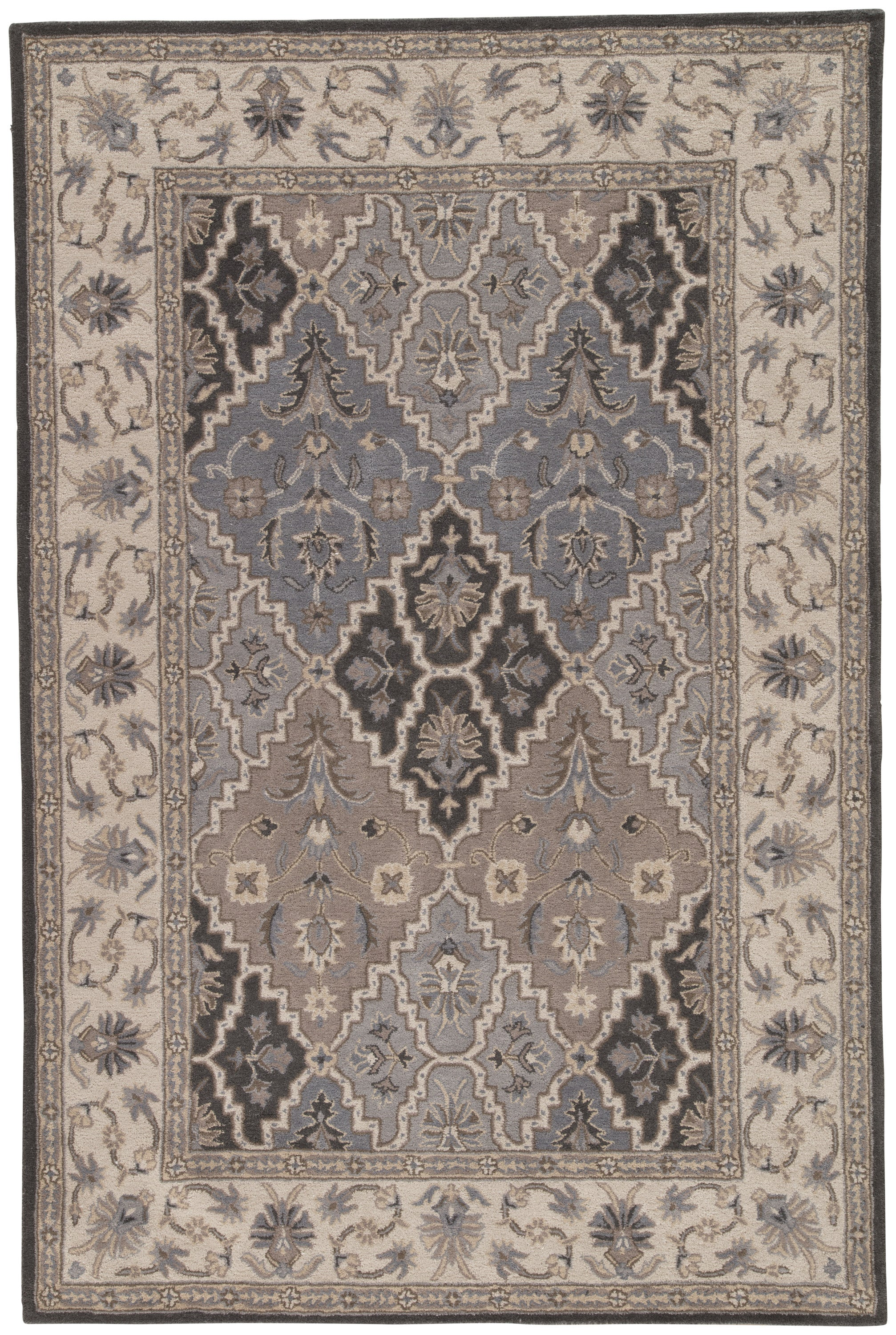 Rectangle Gray Medallion Hand Tufted Wool Traditional & Oriental recommended for Bedroom, Bathroom, Dining Room, Office, Hallway, Living Room
