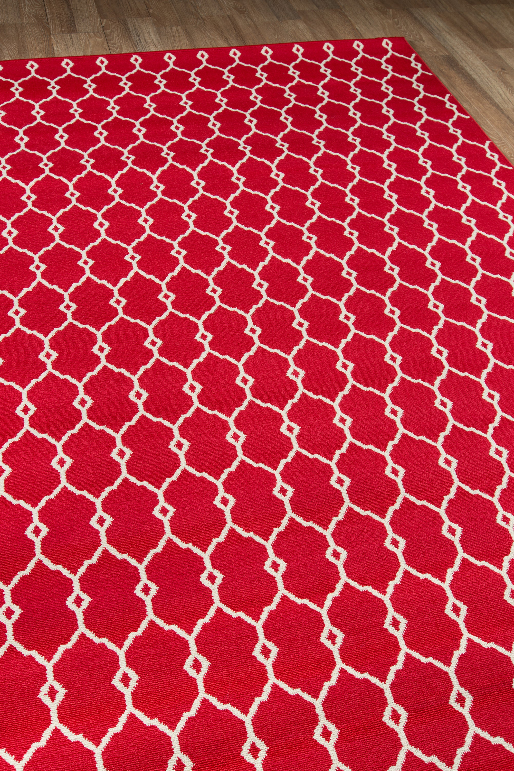 Rectangle Red Geometric Machine Made Synthetics Contemporary recommended for Kitchen, Bedroom, Bathroom, Outdoor, Dining Room, Office, Hallway, Living Room