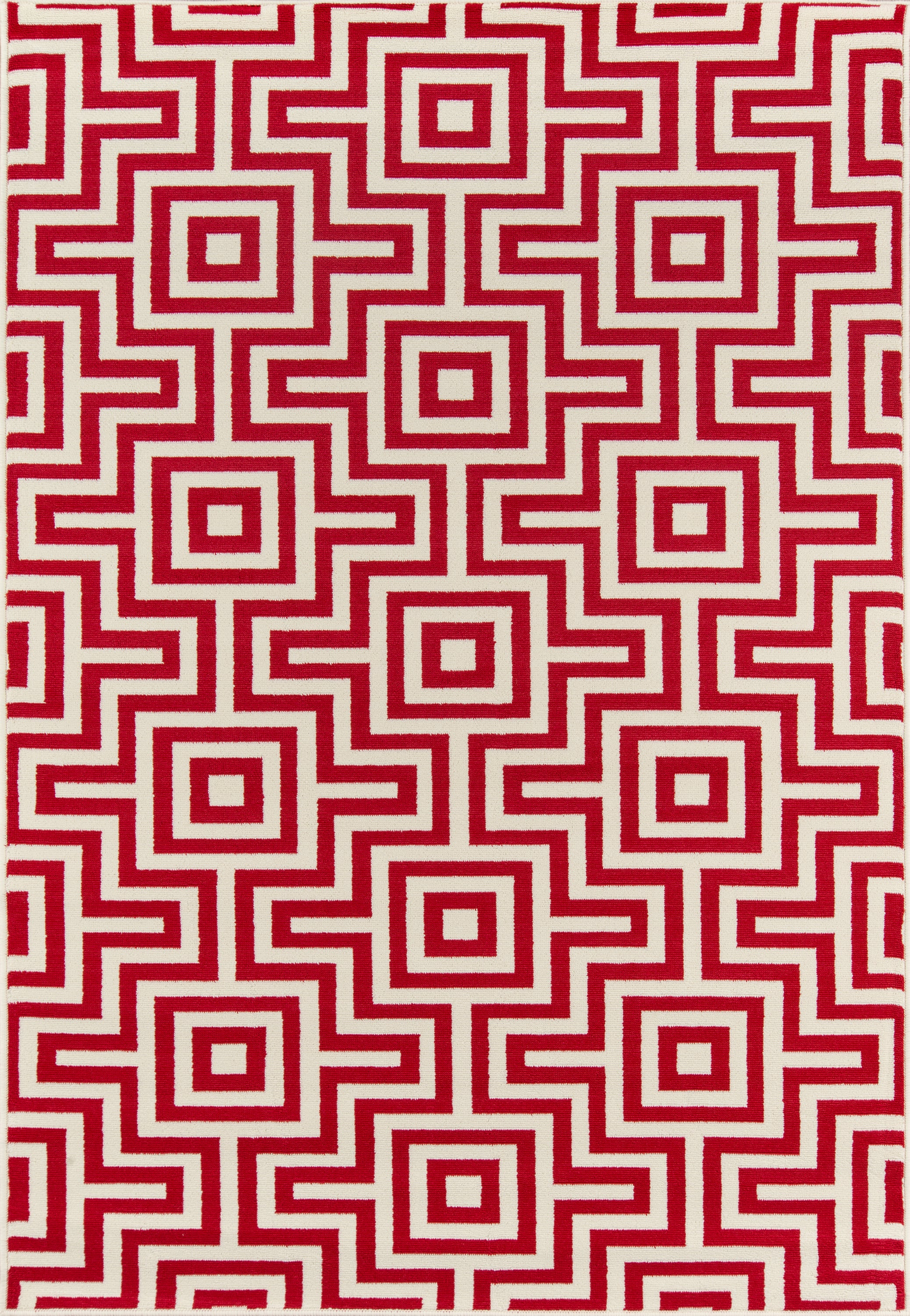 Rectangle 311x57 Red Geometric Machine Made Synthetics Transitional recommended for Kitchen, Bedroom, Bathroom, Outdoor, Dining Room, Office, Hallway, Living Room