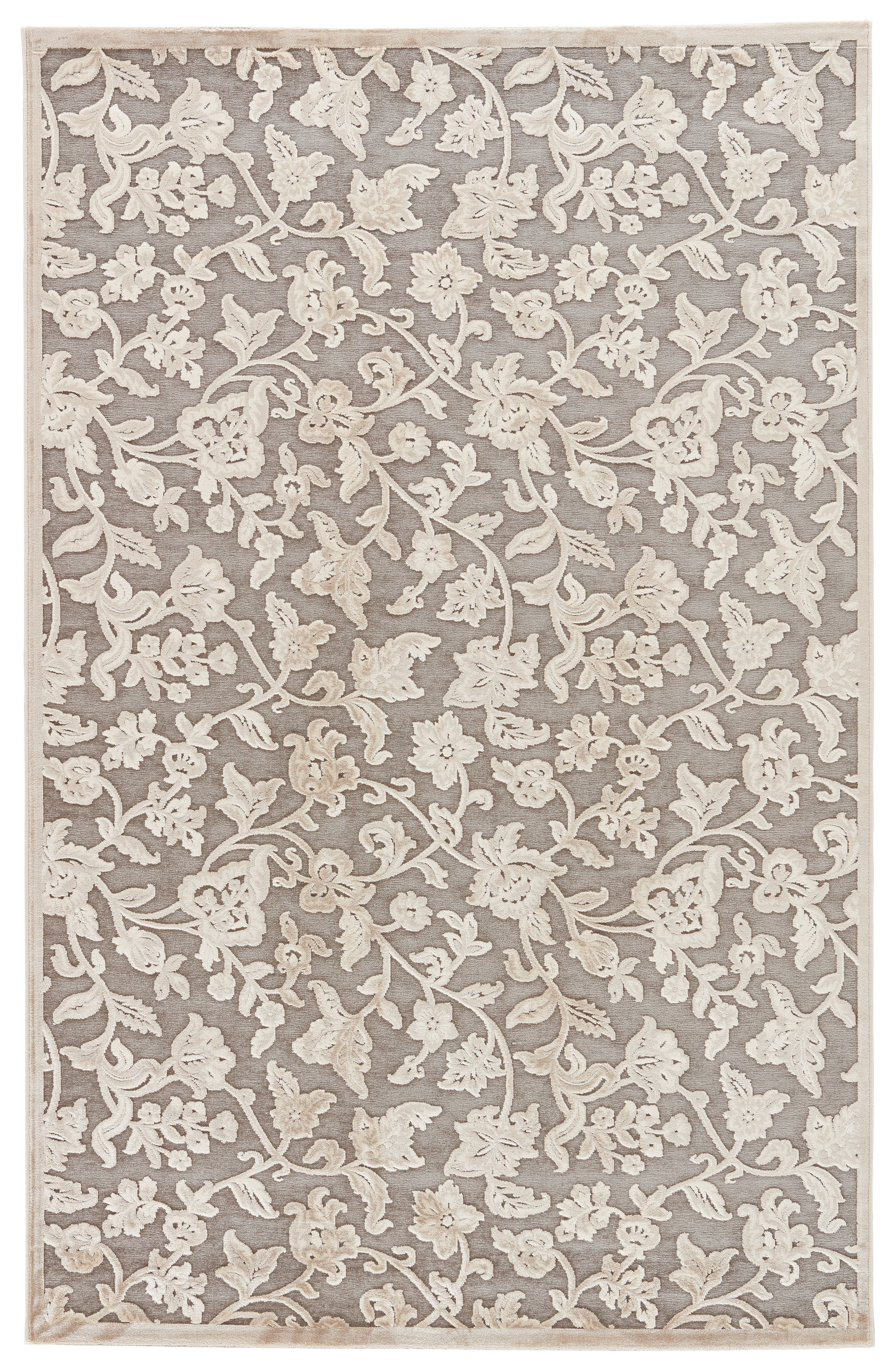 Rectangle Gray Floral Machine Made Synthetics Traditional & Oriental recommended for Kitchen, Bedroom, Bathroom, Dining Room, Office, Hallway, Living Room