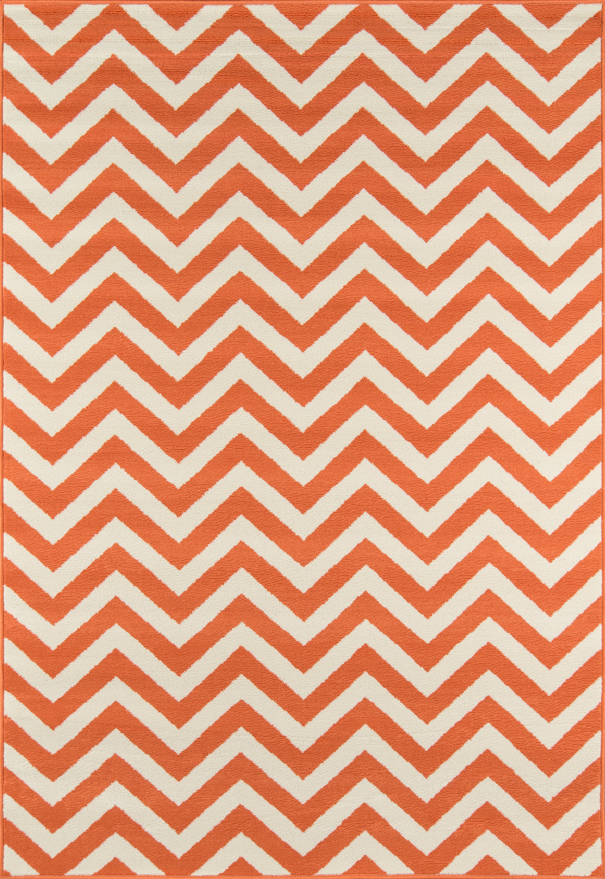 Rectangle 53x76 Orange Chevron Machine Made Synthetics Contemporary recommended for Kitchen, Bedroom, Bathroom, Outdoor, Dining Room, Office, Hallway, Living Room