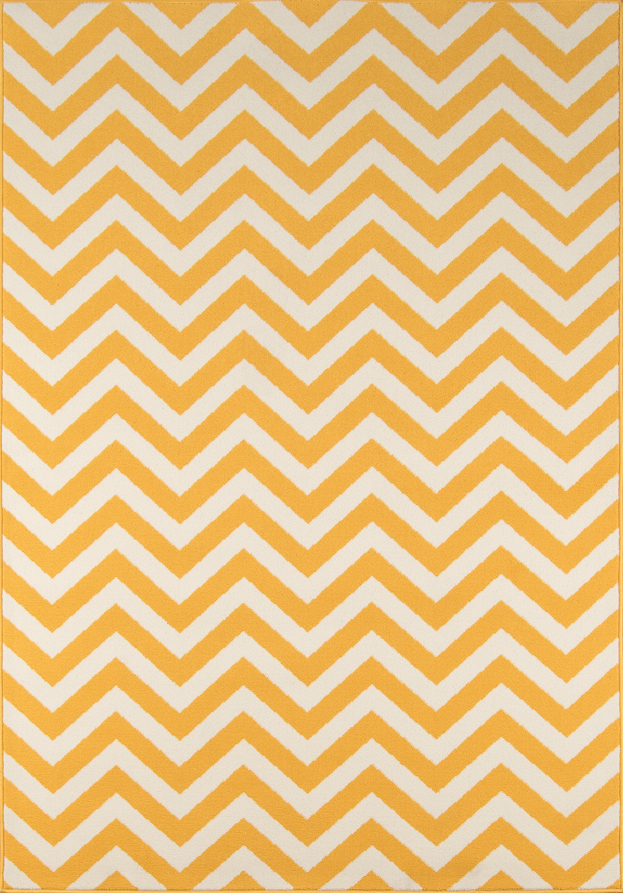 Rectangle 18x37 Yellow Chevron Machine Made Synthetics Contemporary recommended for Kitchen, Bedroom, Bathroom, Outdoor, Dining Room, Office, Hallway, Living Room