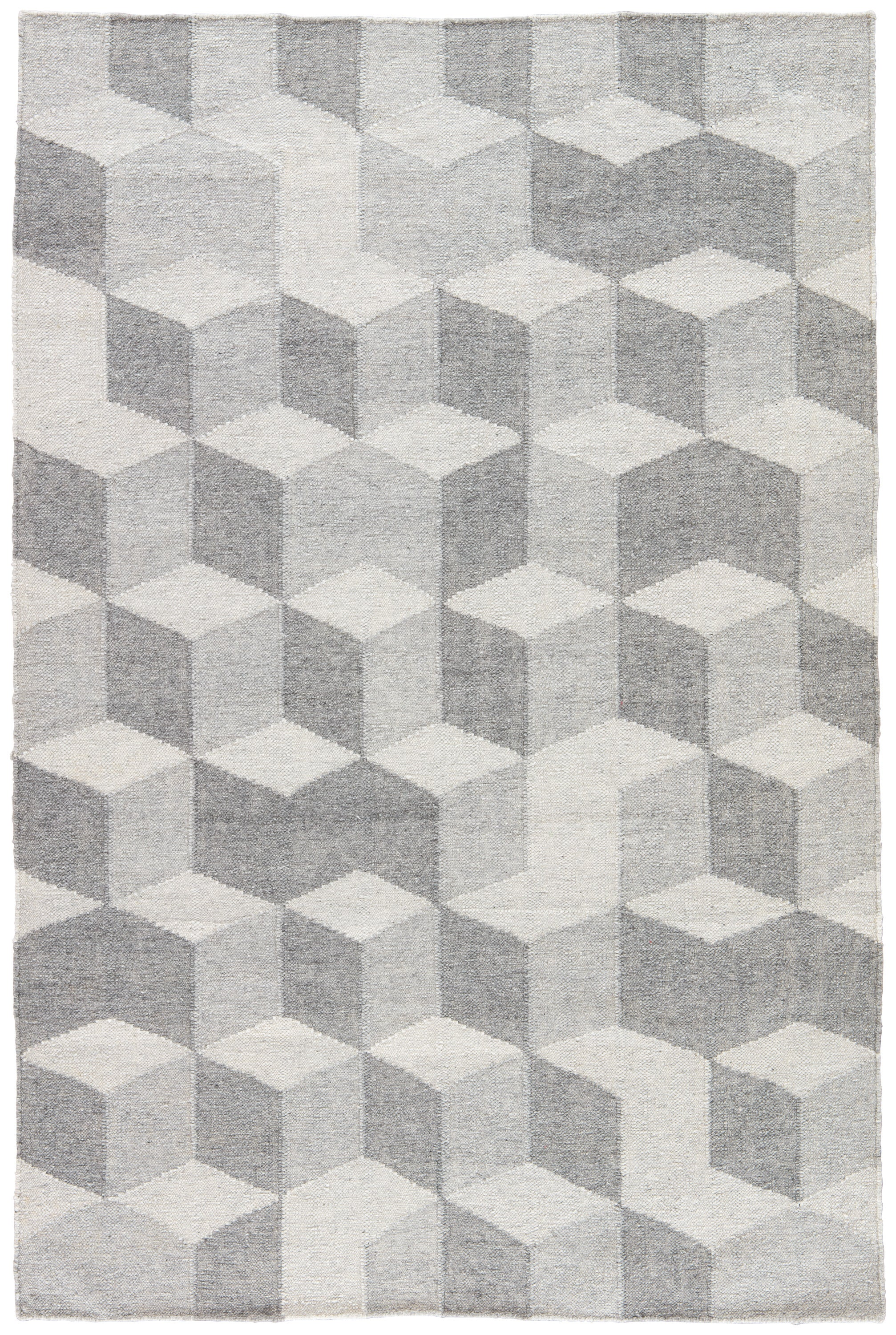 Rectangle Gray Geometric Dhurrie Synthetics Contemporary recommended for Bedroom, Bathroom, Outdoor, Dining Room, Office, Hallway, Living Room