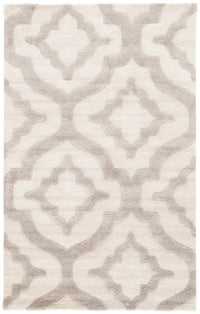 Rectangle White Geometric Hand Tufted Blends Persian & Moroccan recommended for Bedroom, Bathroom, Dining Room, Office, Hallway, Living Room