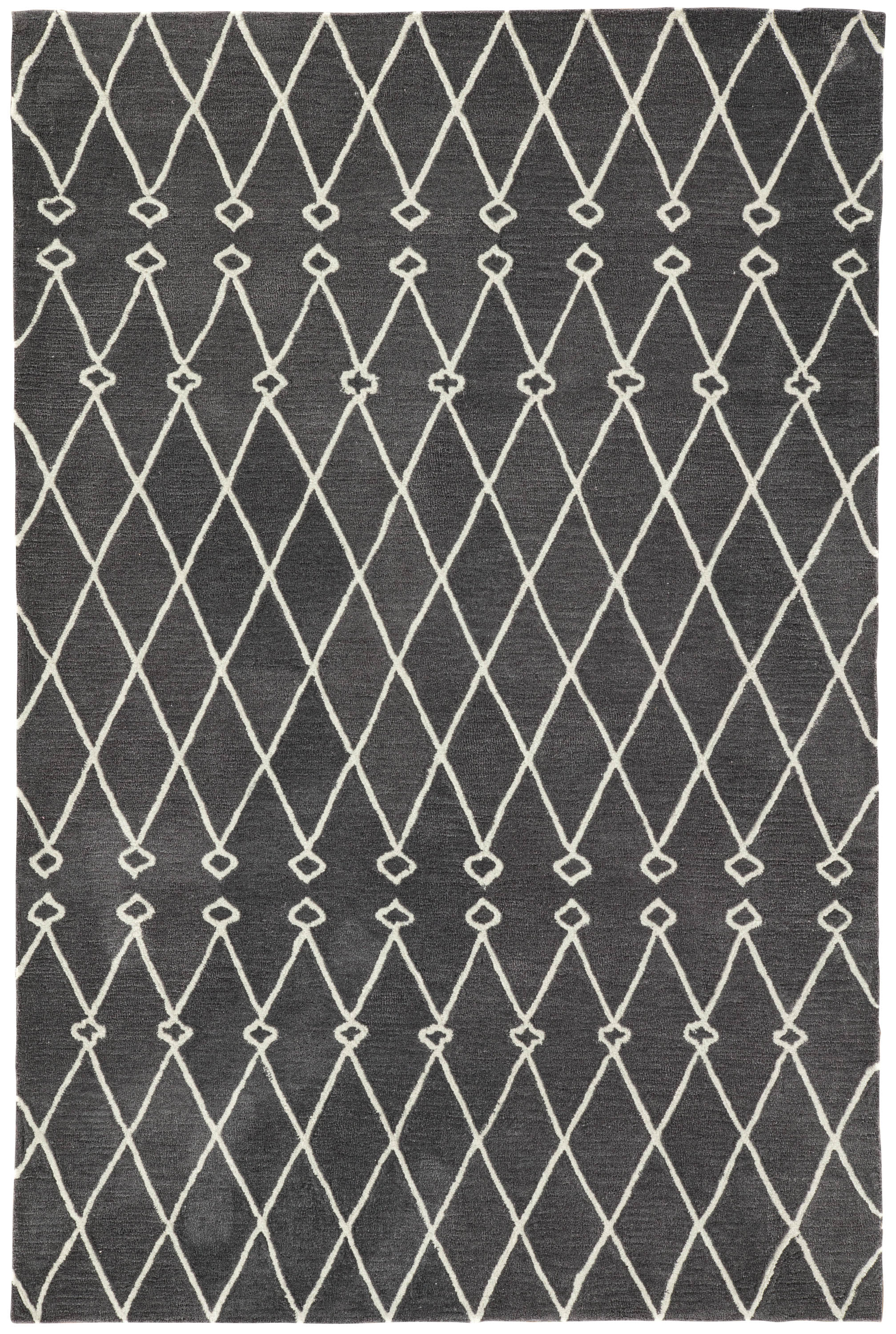 Rectangle Darkgray Trellis Hand Tufted Synthetics Persian & Moroccan recommended for Bedroom, Bathroom, Dining Room, Office, Hallway, Living Room