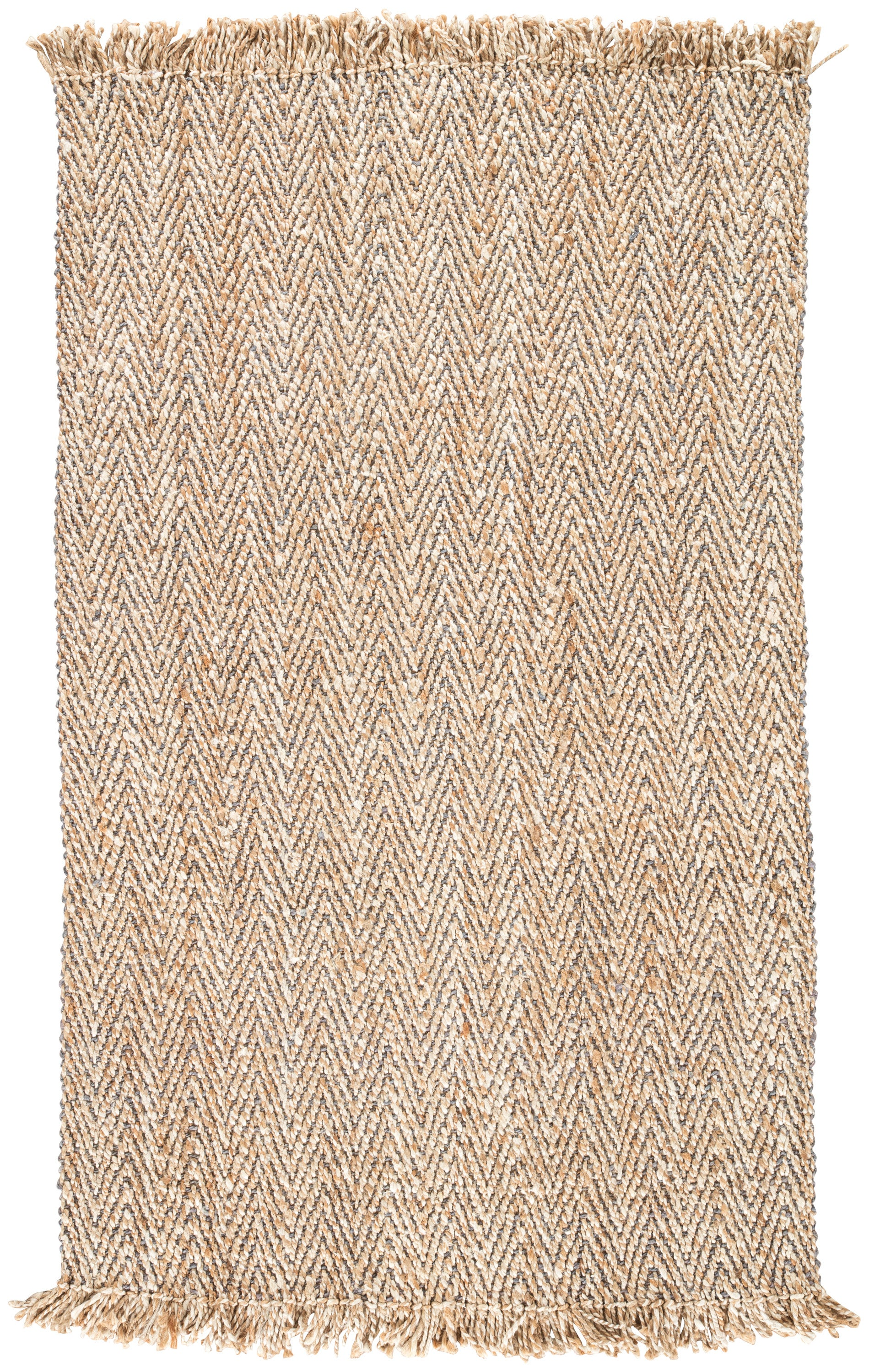 Rectangle Beige Chevron Hand Woven Jute & Natural Fibers Casual recommended for Bedroom, Bathroom, Dining Room, Office, Hallway, Living Room