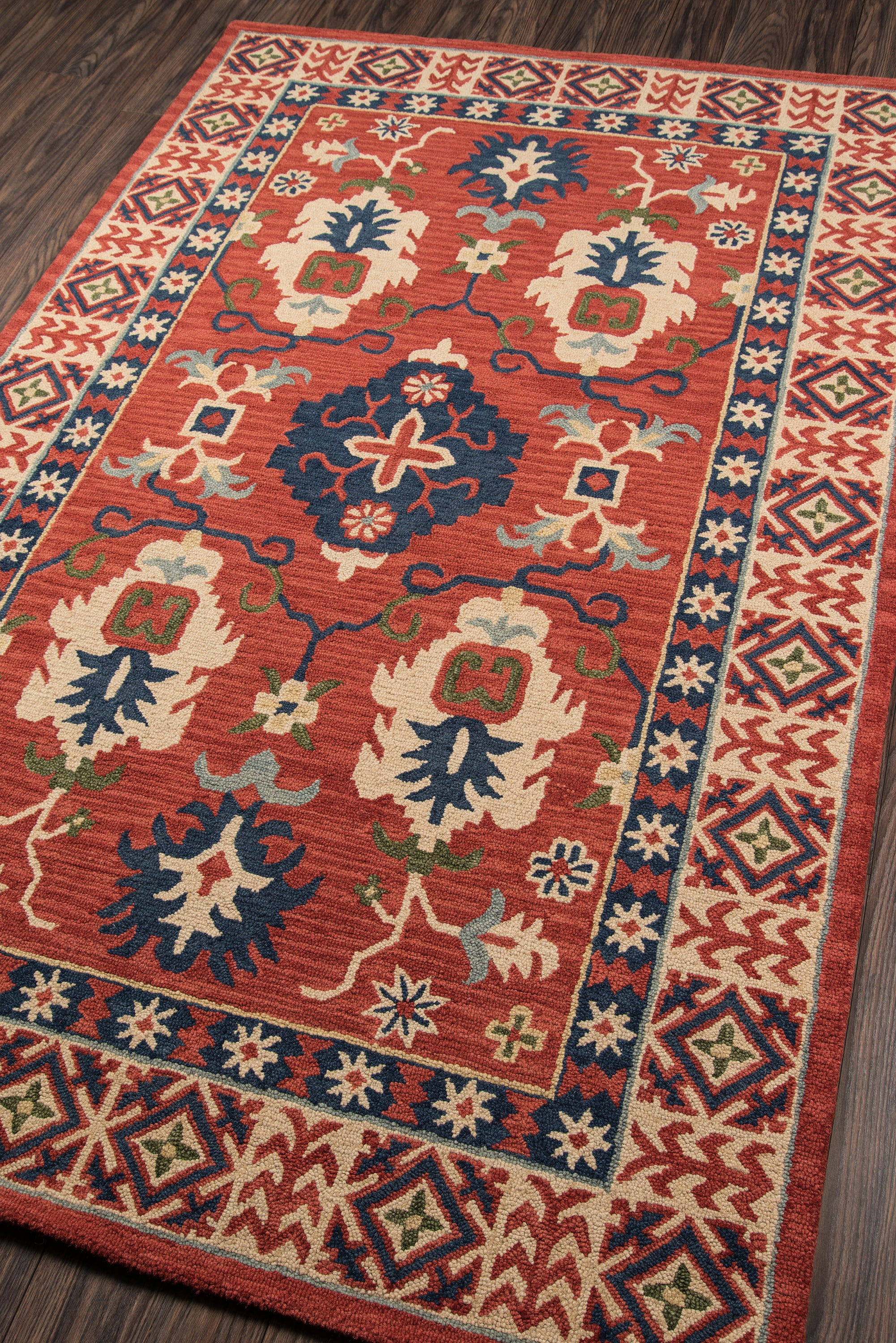 Rectangle Red Oriental Hand Tufted Wool Traditional & Oriental recommended for Kitchen, Bedroom, Bathroom, Dining Room, Office, Hallway, Living Room