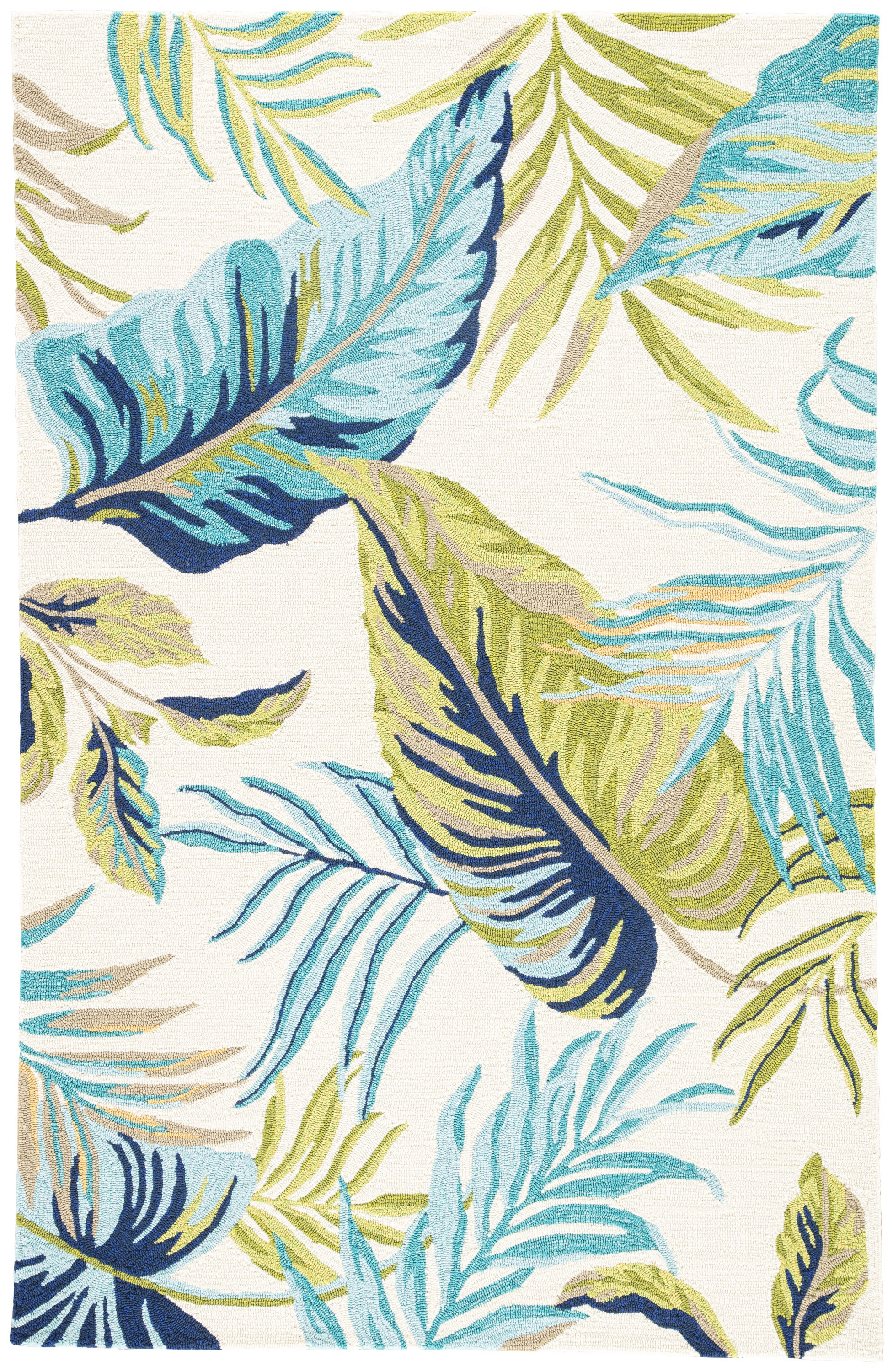 Rectangle Blue Floral Hand Hooked Synthetics Casual recommended for Bedroom, Bathroom, Outdoor, Dining Room, Office, Hallway, Living Room
