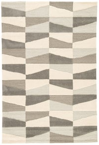 Rectangle Brown Geometric Hand Tufted Synthetics Contemporary recommended for Bedroom, Bathroom, Dining Room, Office, Hallway, Living Room