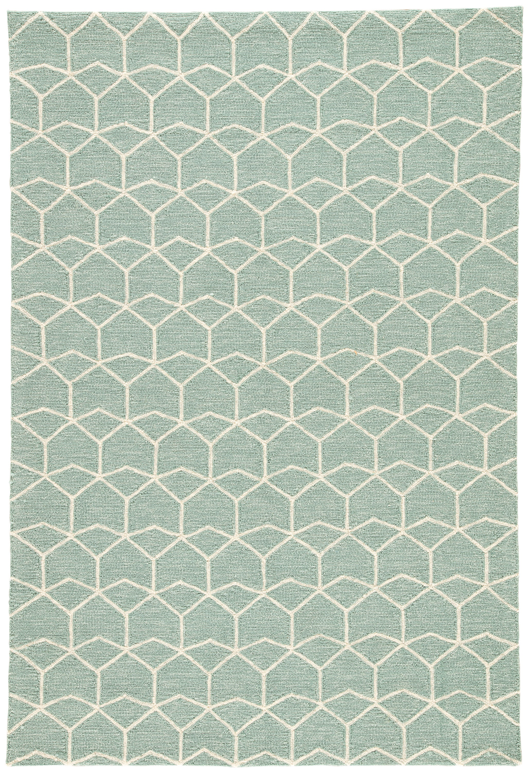 Rectangle 5x76 Green Geometric Hand Hooked Synthetics Contemporary recommended for Bedroom, Bathroom, Outdoor, Dining Room, Office, Hallway, Living Room
