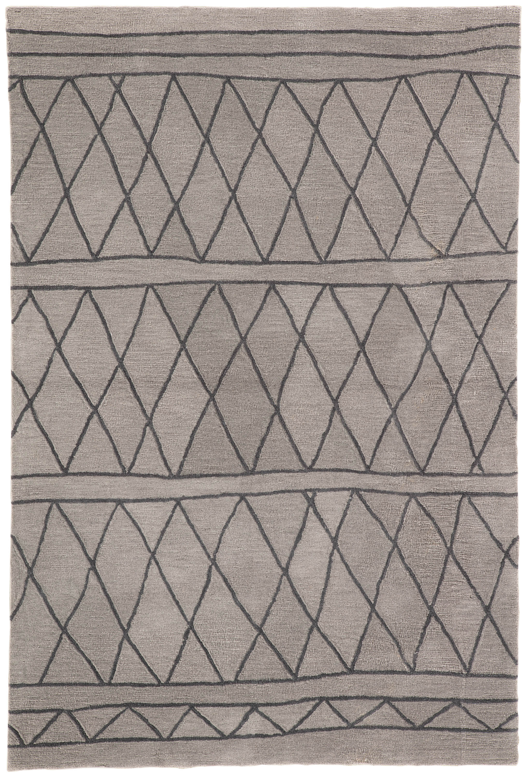 Rectangle Lightgray Trellis Hand Tufted Synthetics Persian & Moroccan recommended for Bedroom, Bathroom, Dining Room, Office, Hallway, Living Room