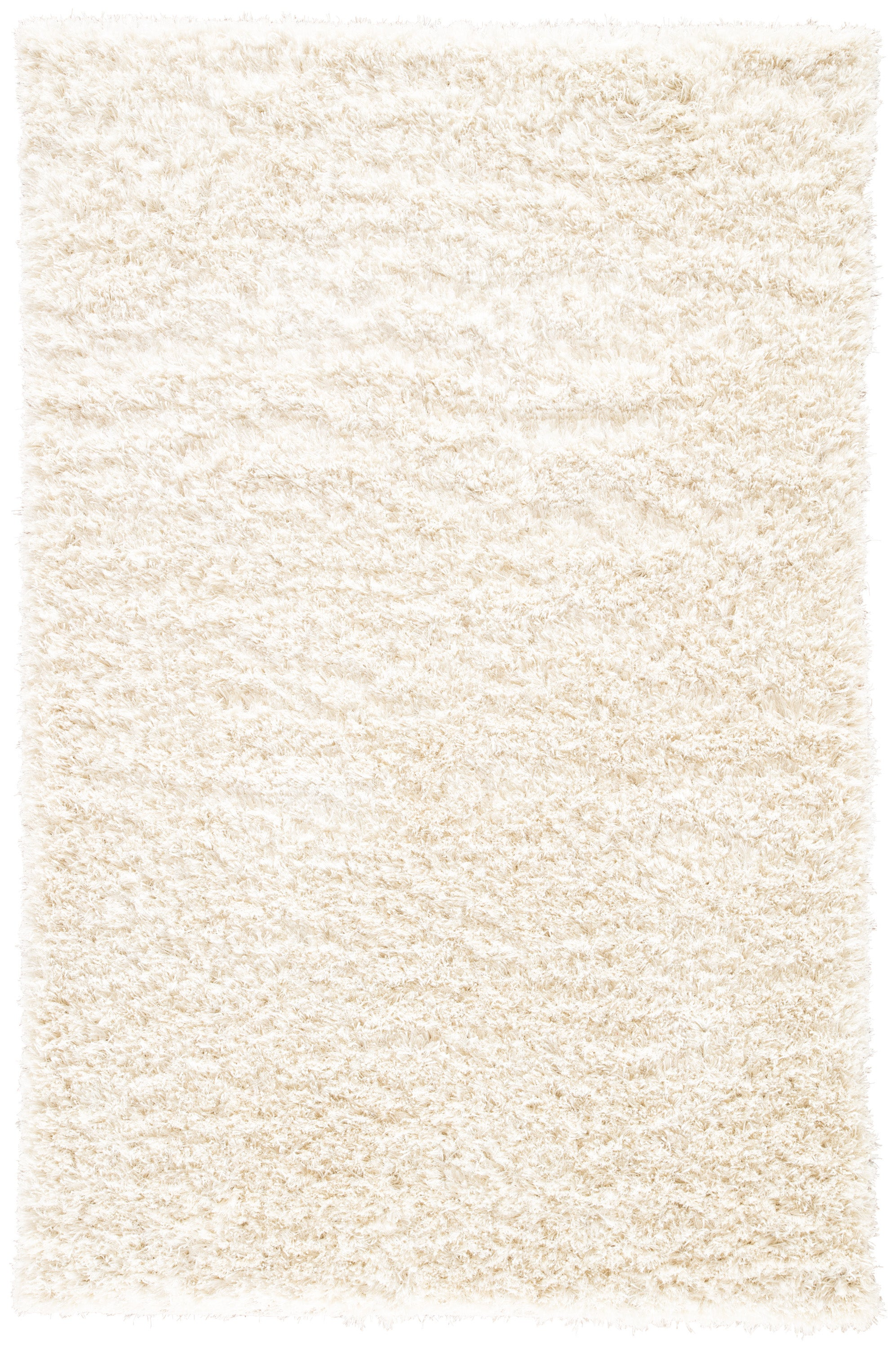 Rectangle White Solid Shag Blends Shag recommended for Bedroom, Bathroom, Dining Room, Office, Hallway, Living Room