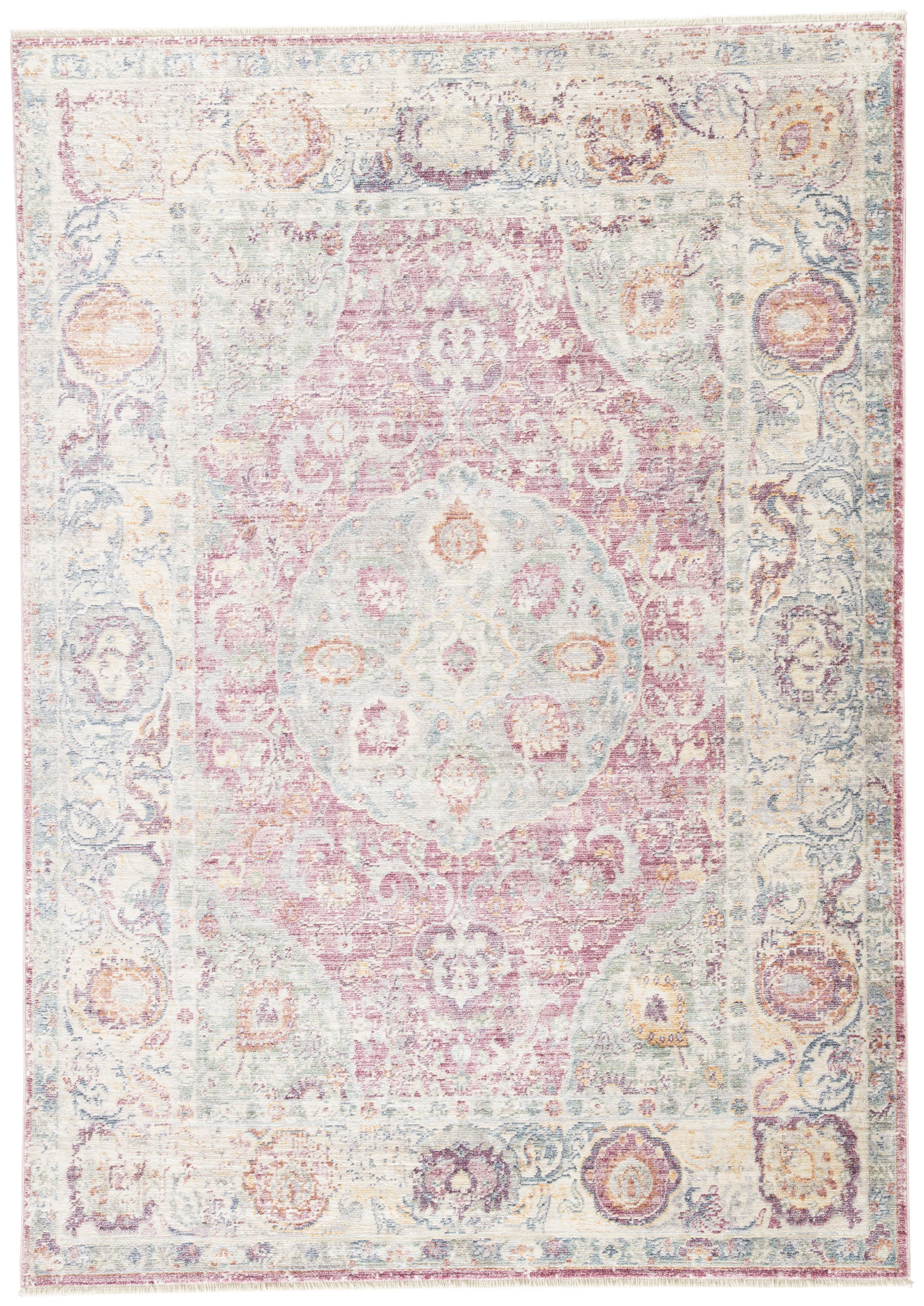 Rectangle Pink Medallion Machine Made Synthetics Contemporary recommended for Bedroom, Bathroom, Kids, Dining Room, Office, Hallway, Living Room
