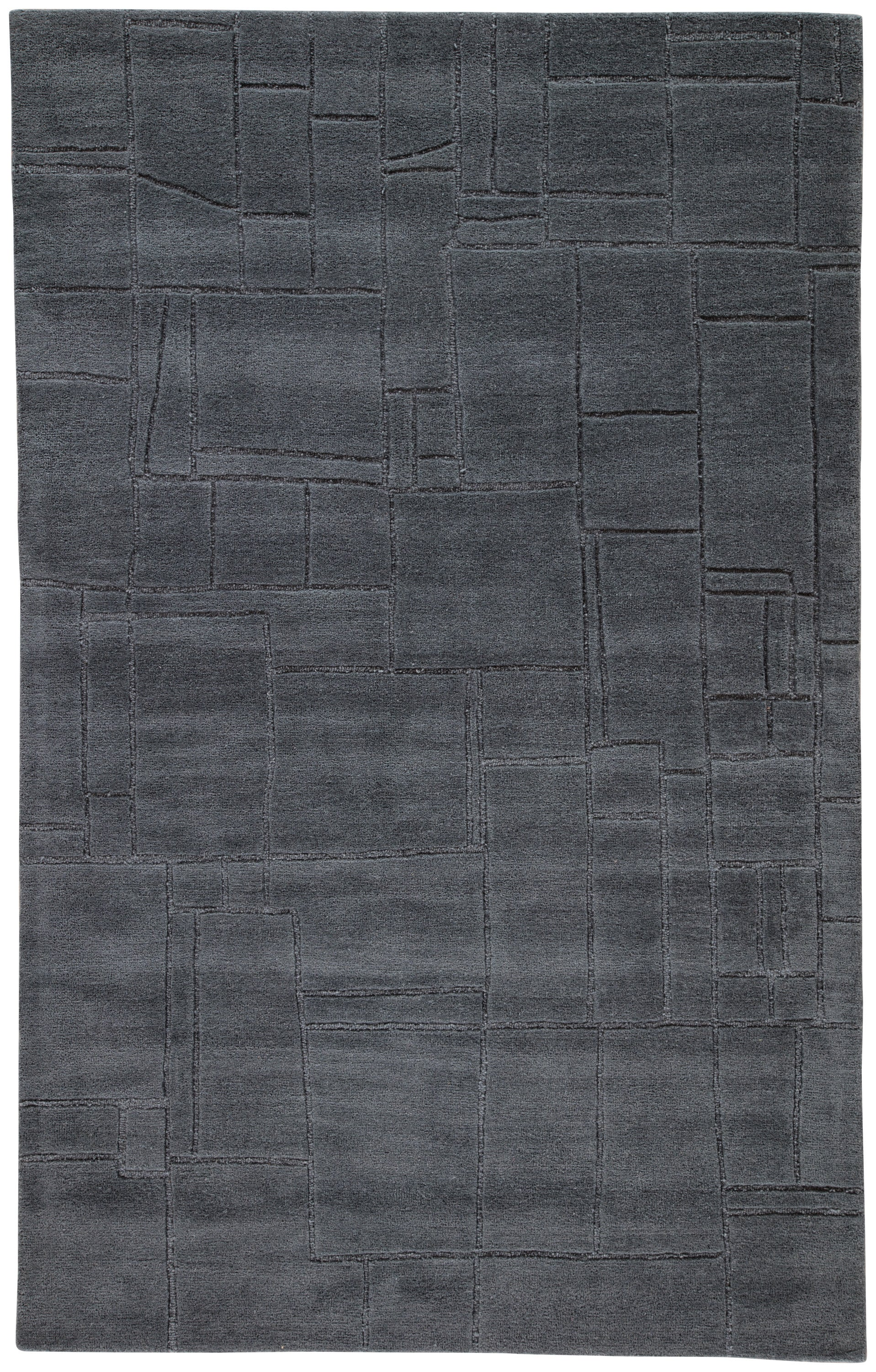 Rectangle 10x14 Gray Solid Hand Tufted Wool Modern recommended for Bedroom, Bathroom, Dining Room, Office, Hallway, Living Room