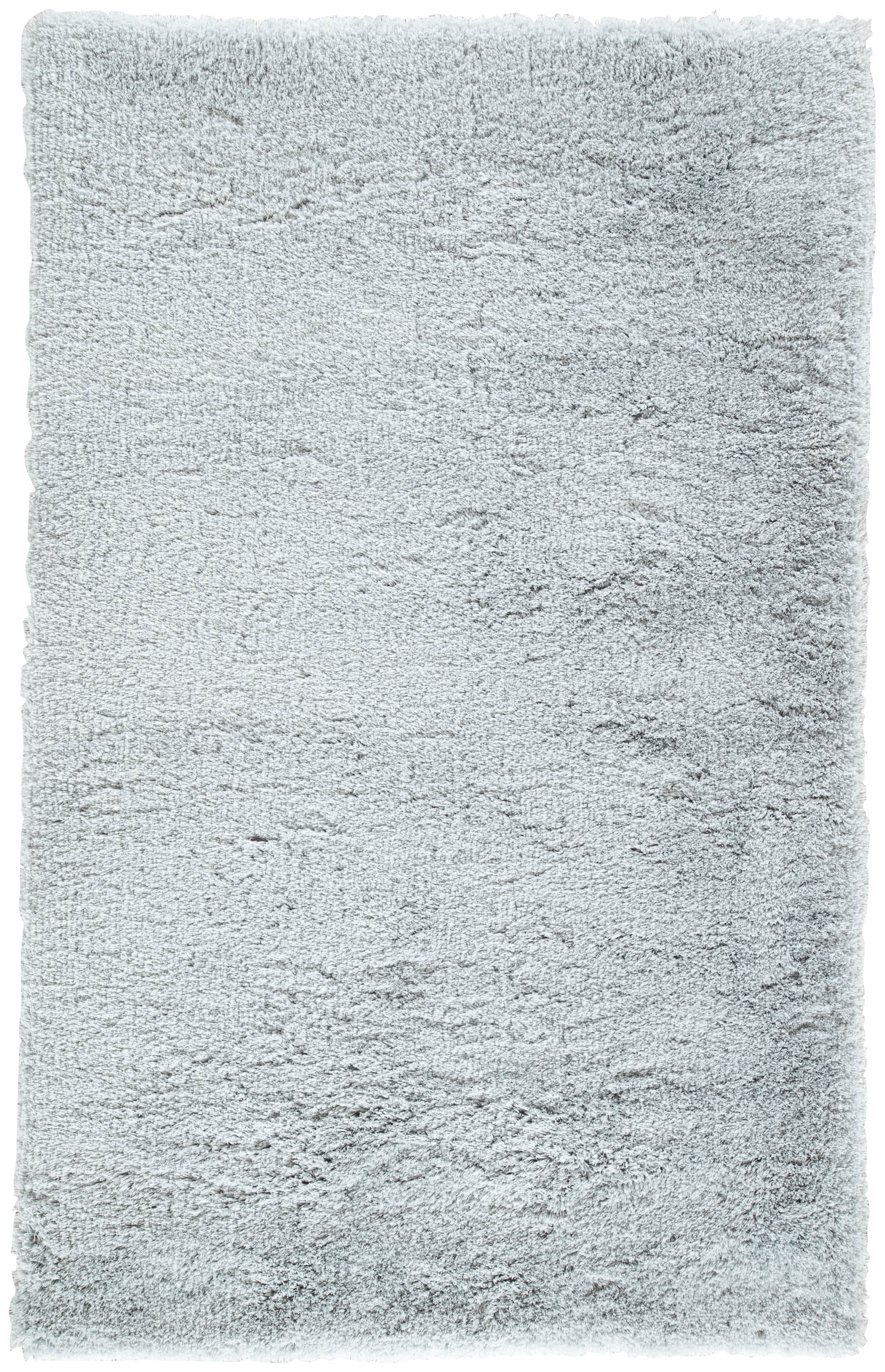 Rectangle Gray Solid Shag Synthetics Shag recommended for Bedroom, Bathroom, Dining Room, Office, Hallway, Living Room