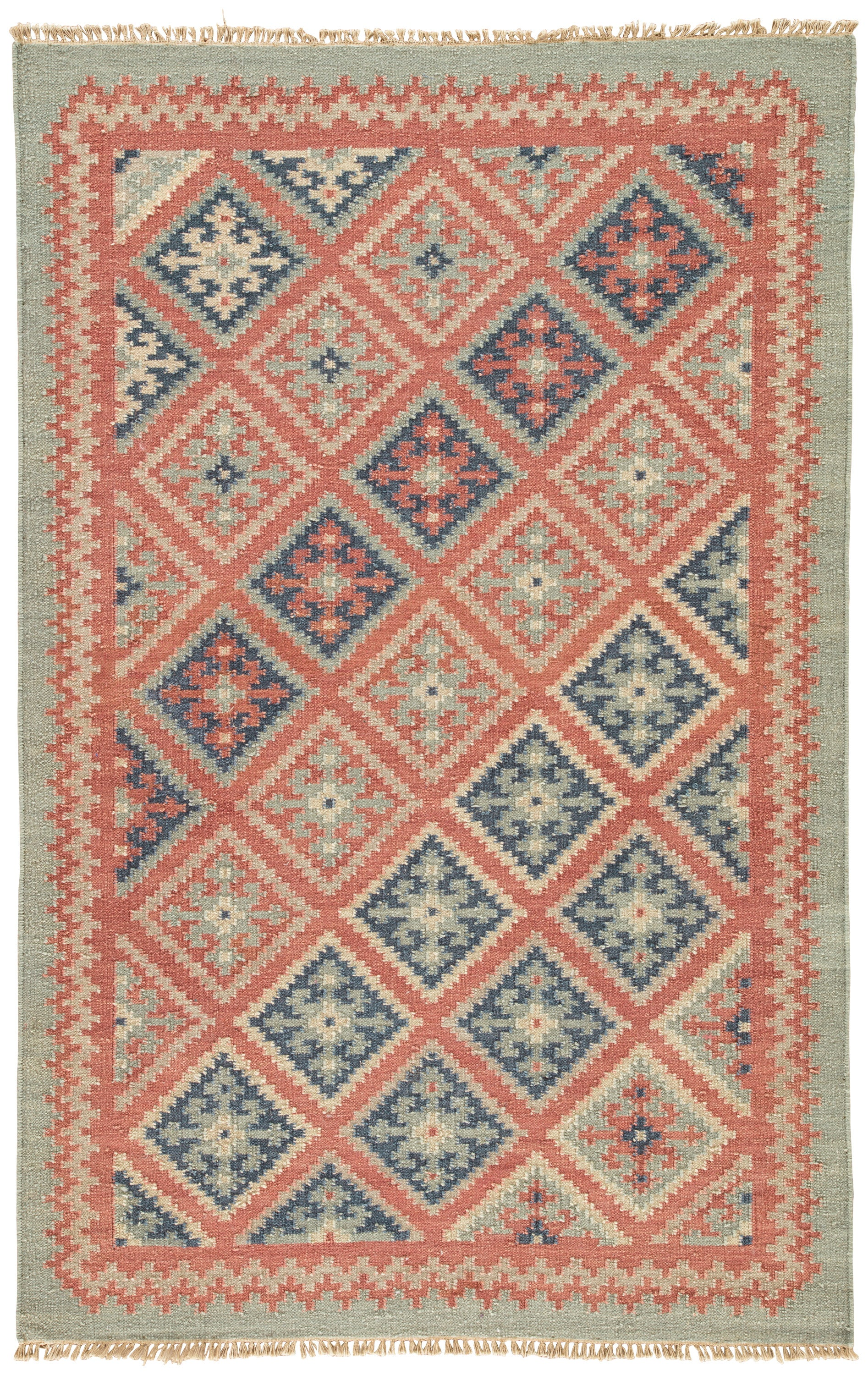 Rectangle 5x8 Red Geometric Dhurrie Wool Southwestern recommended for Bedroom, Bathroom, Dining Room, Office, Hallway, Living Room