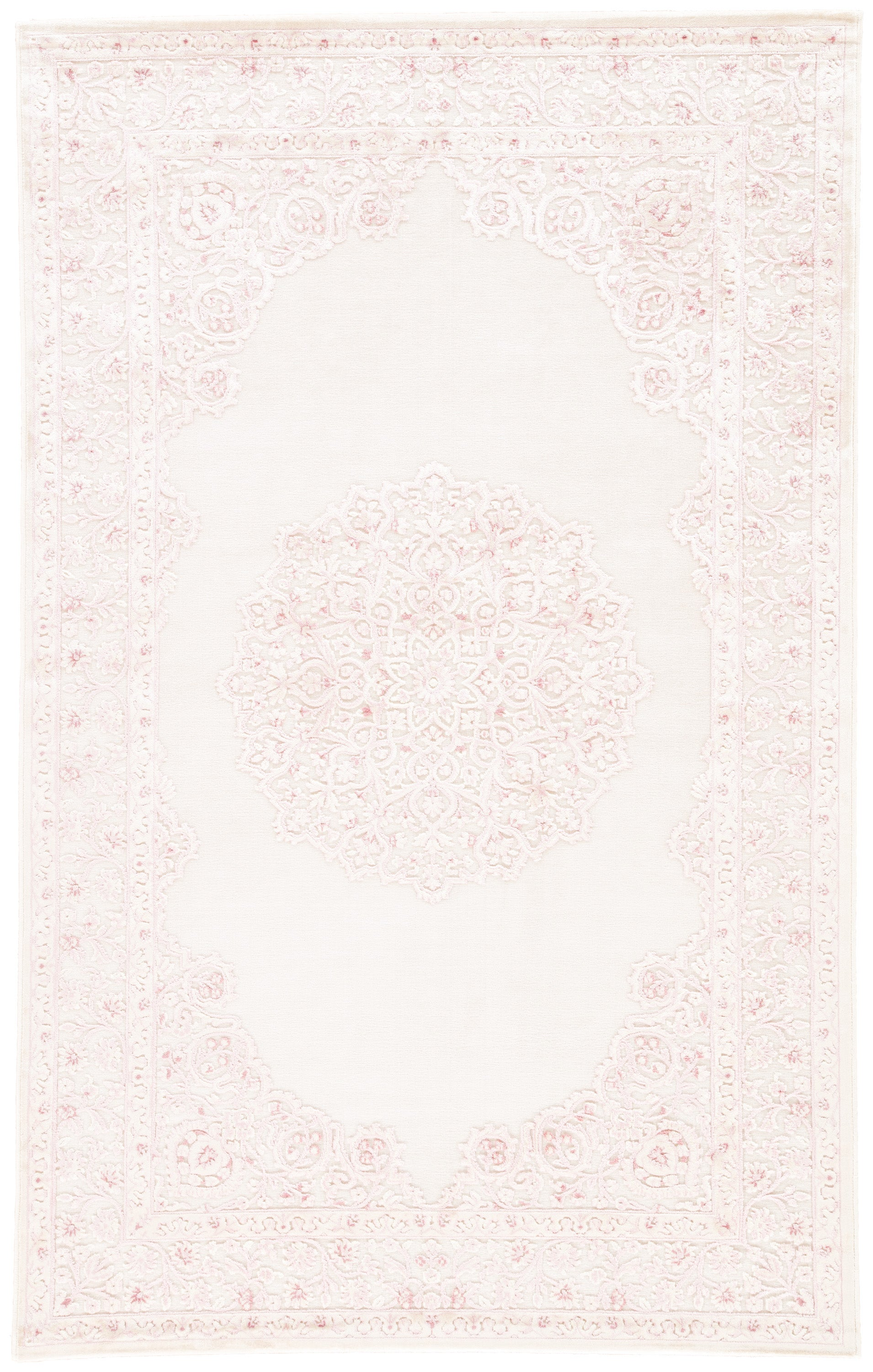 Rectangle Pink Medallion Machine Made Synthetics Contemporary recommended for Kitchen, Bedroom, Bathroom, Kids, Dining Room, Office, Hallway, Living Room