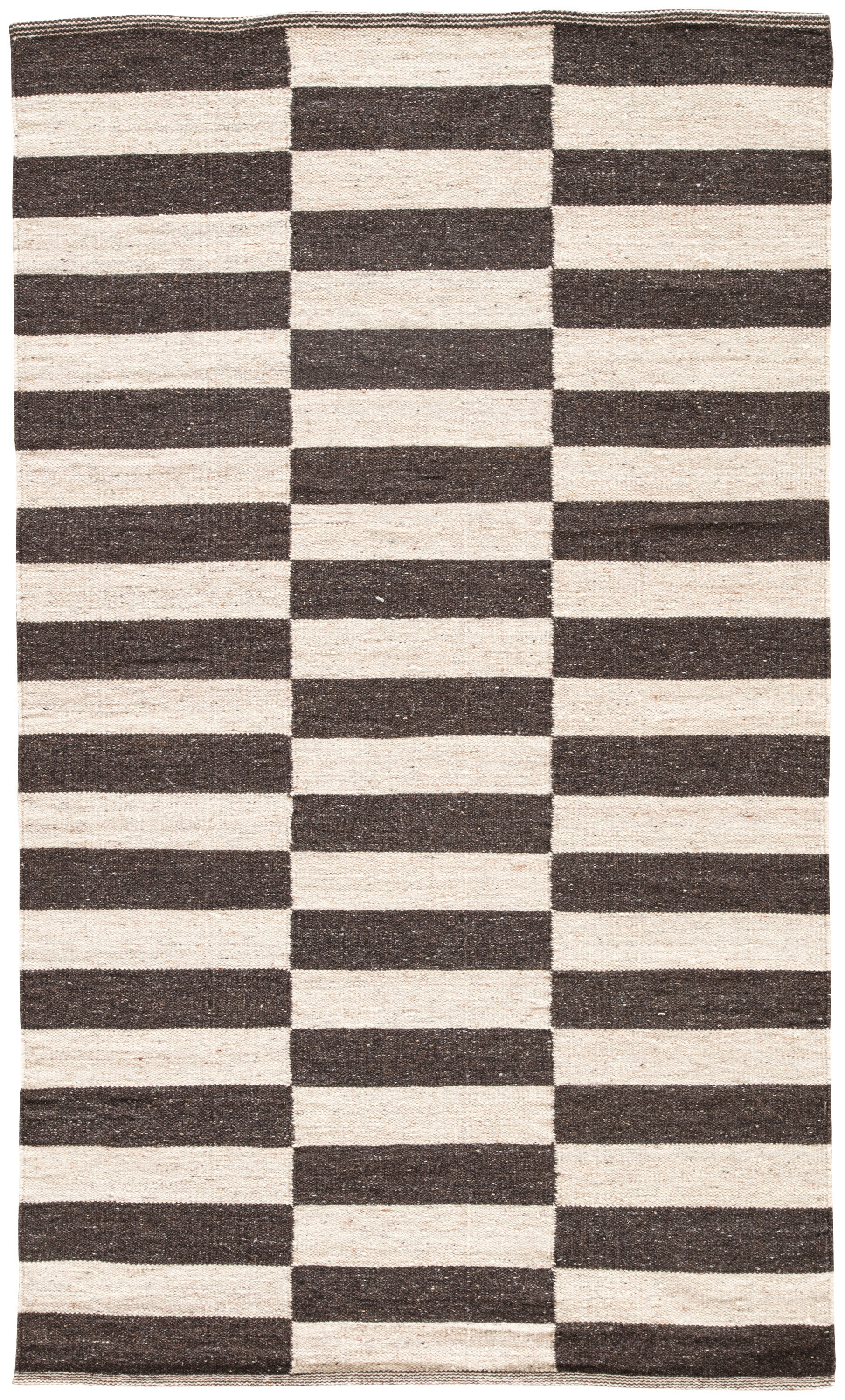 Rectangle Brown Stripe Dhurrie Wool Contemporary recommended for Bedroom, Bathroom, Dining Room, Office, Hallway, Living Room