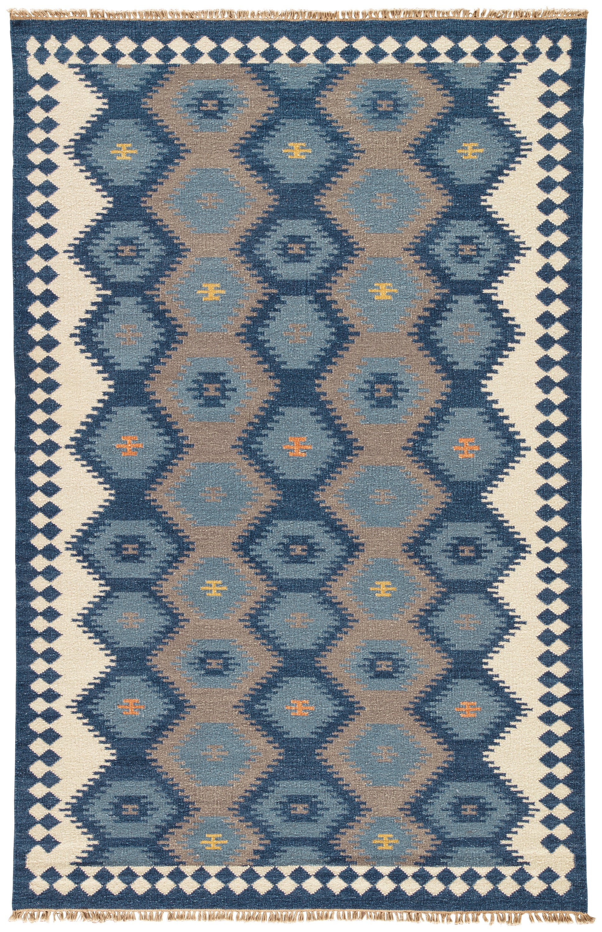 Rectangle Darkblue Geometric Dhurrie Wool Southwestern recommended for Bedroom, Bathroom, Dining Room, Office, Hallway, Living Room
