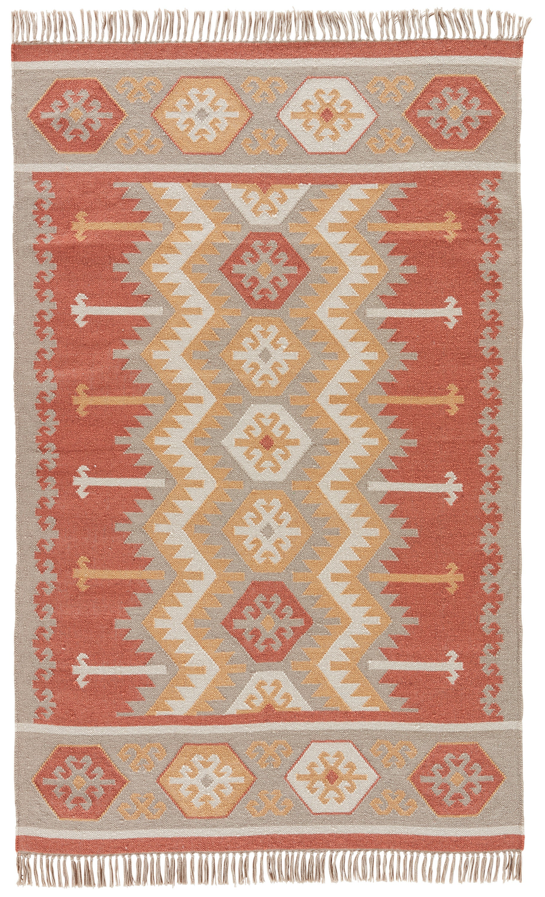 Rectangle 5x8 Orange Geometric Hand Woven Synthetics Southwestern recommended for Bedroom, Bathroom, Outdoor, Dining Room, Office, Hallway, Living Room