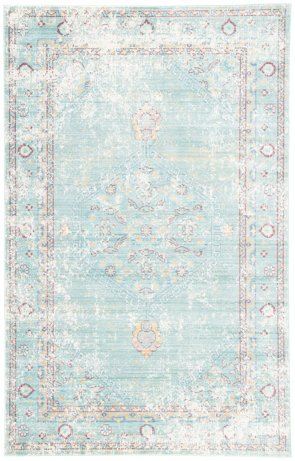 Latifa Vintage Medallion Area Rug by Wovenly| Shop the Look: Modern Farmhouse Boho Office | eDesign Tribe Blog