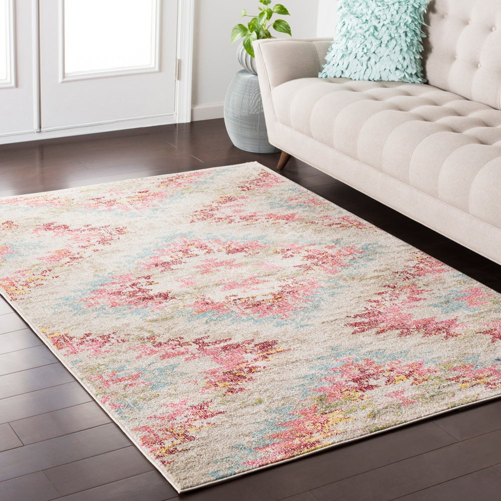 Rectangle, Square, Round Pink Southwestern Machine Made Synthetics Boho/bohemian recommended for Kitchen, Bedroom, Bathroom, Kids, Dining Room, Office, Hallway, Living Room
