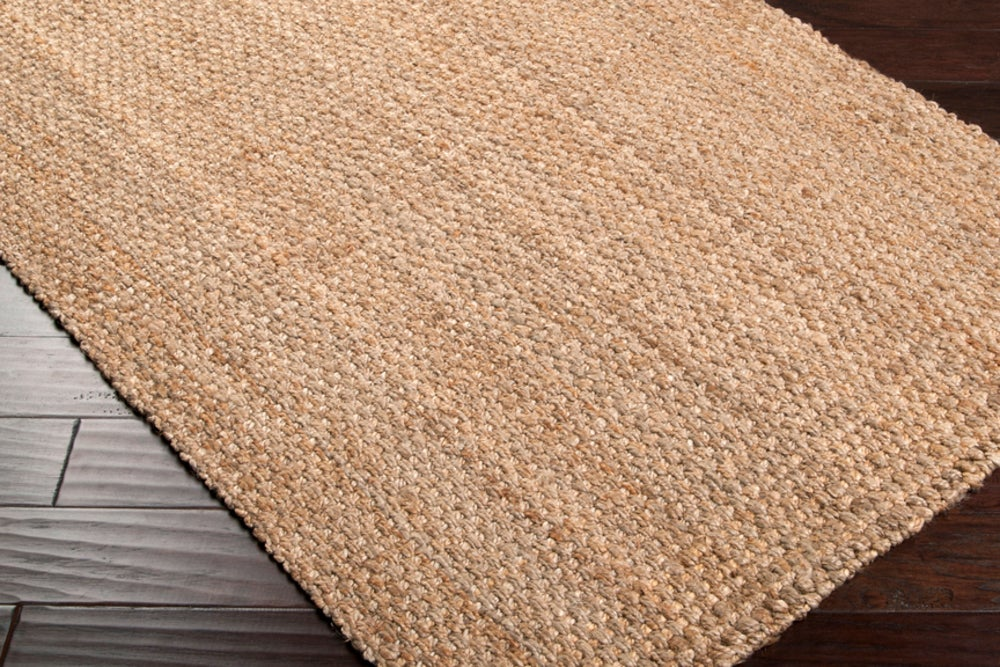 Rectangle 12x15 Tan Solid Hand Woven Jute & Natural Fibers Casual recommended for Bedroom, Bathroom, Dining Room, Office, Hallway, Living Room
