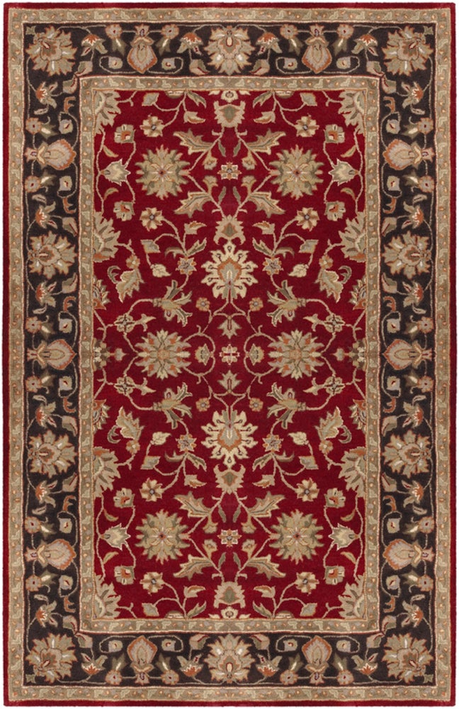 Rectangle, Octagon, Round, Star 5x8 Red Traditional/oriental Hand Tufted Wool Traditional & Oriental recommended for Kitchen, Bedroom, Bathroom, Dining Room, Office, Hallway, Living Room