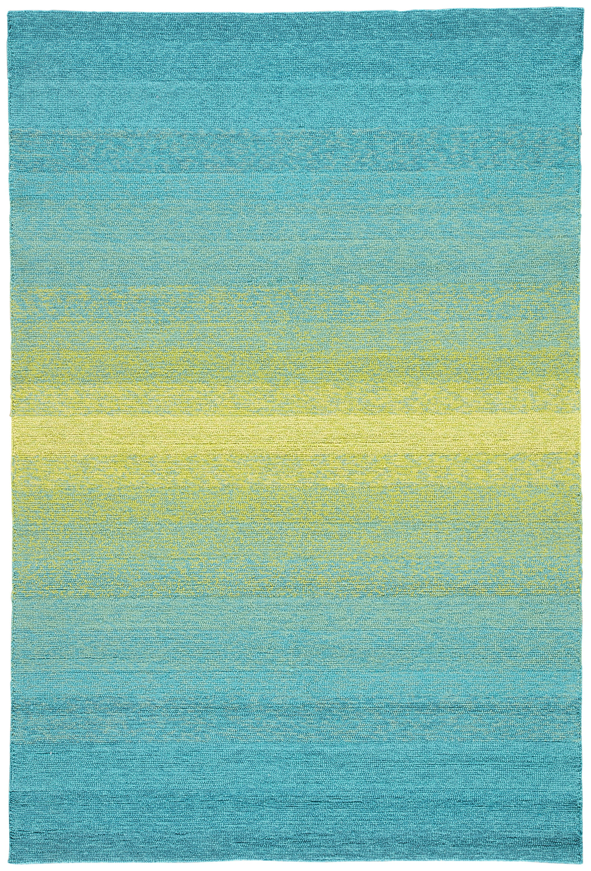Rectangle Blue Ombre Hand Hooked Synthetics Contemporary recommended for Bedroom, Bathroom, Outdoor, Dining Room, Office, Hallway, Living Room