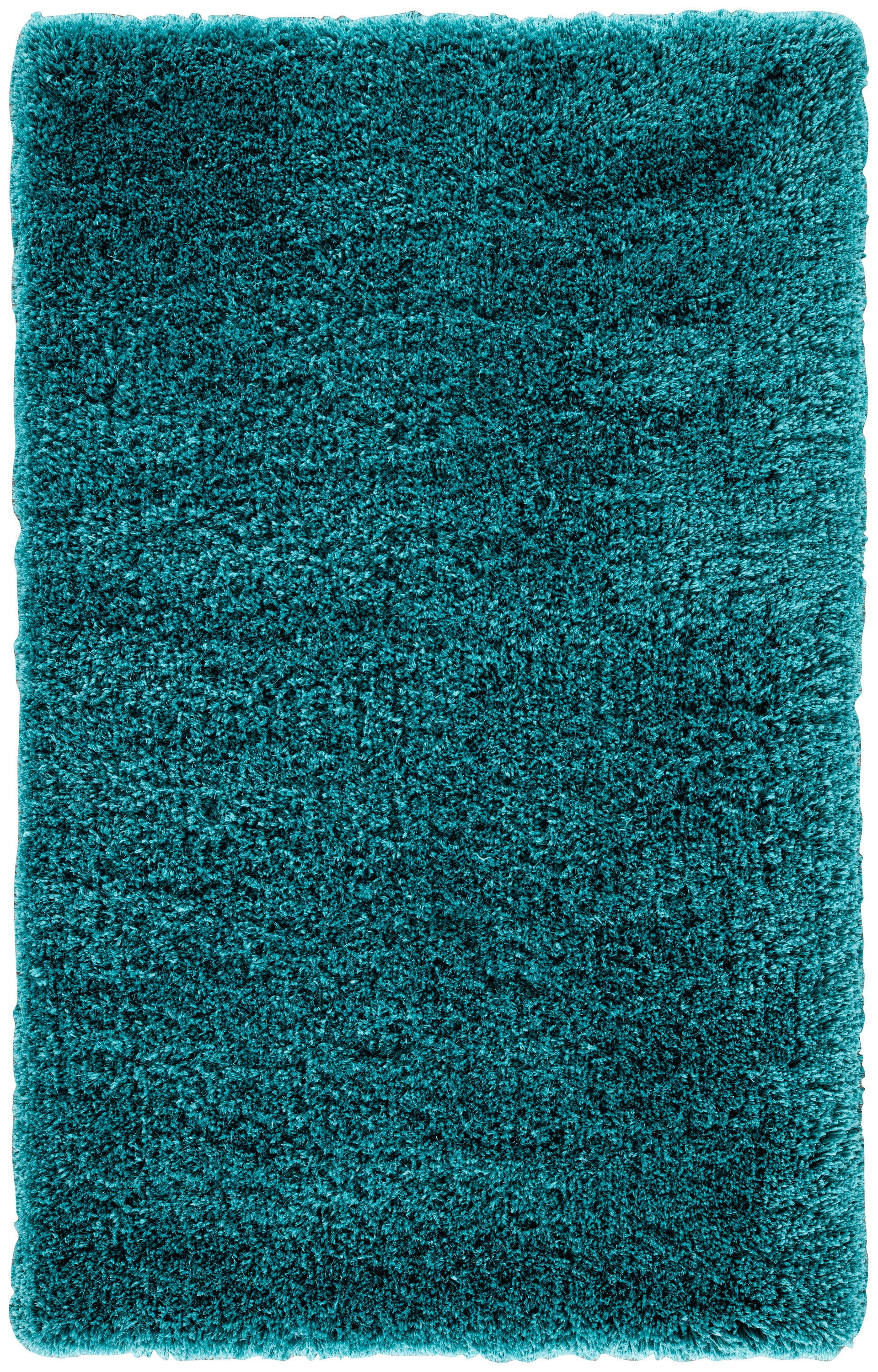 Rectangle Turquoise Solid Shag Synthetics Shag recommended for Bedroom, Bathroom, Dining Room, Office, Hallway, Living Room