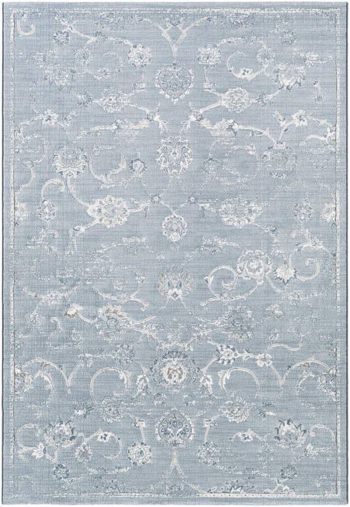 Rectangle Lightblue Traditional/oriental Machine Made Synthetics Updated Traditional recommended for Kitchen, Bedroom, Bathroom, Dining Room, Office, Hallway, Living Room